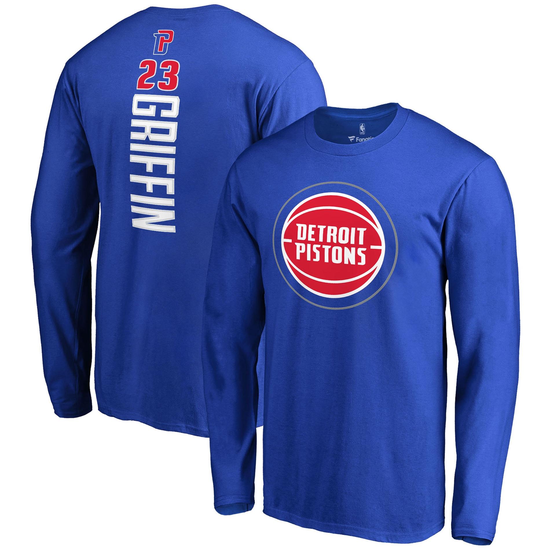 Blake Griffin Detroit Pistons Fanatics Branded Backer Long Sleeve T-Shirt - Blue