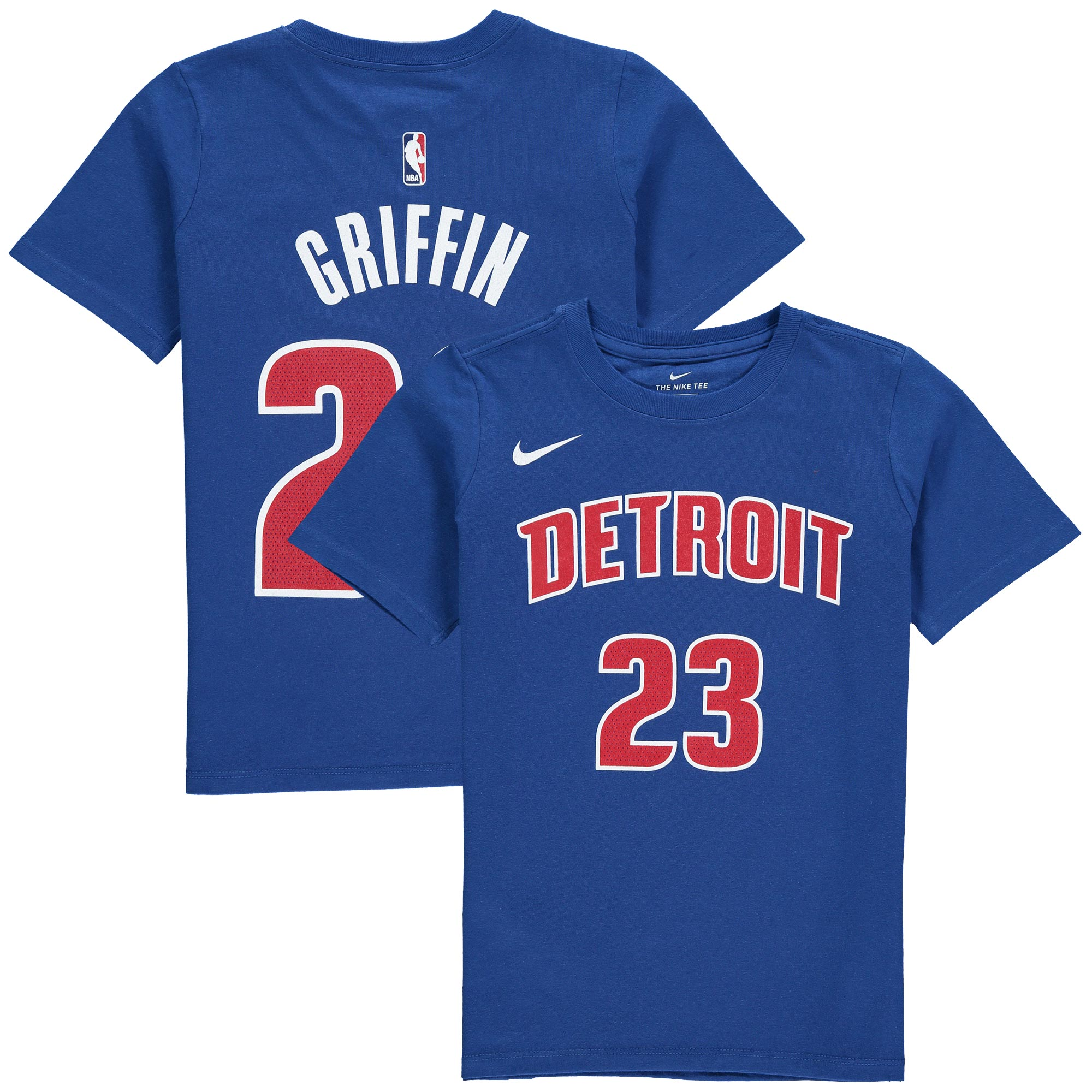 Blake Griffin Detroit Pistons Nike Youth Name & Number Performance T-Shirt - Blue