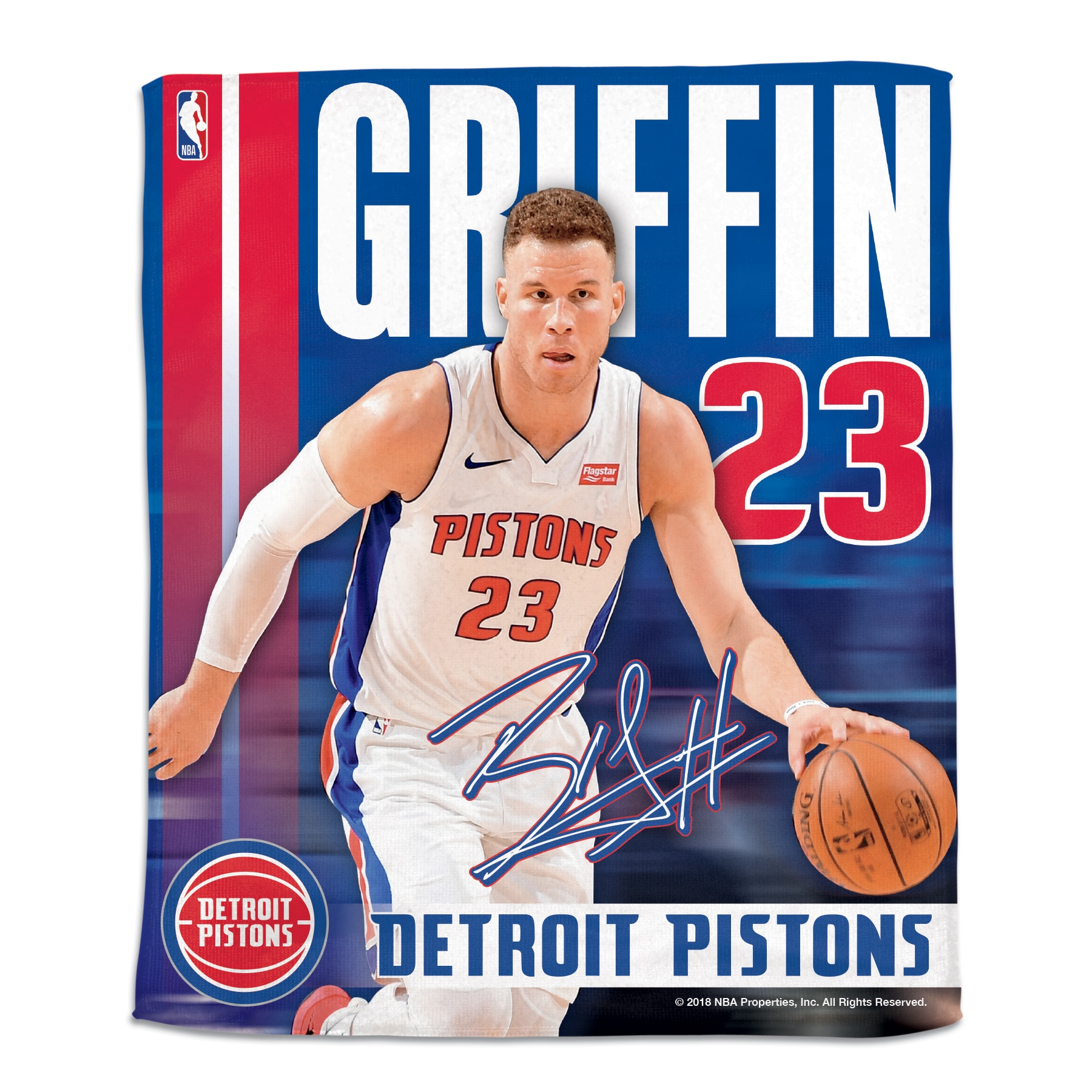 """Blake Griffin Detroit Pistons WinCraft 15"""" x 18"""" Rally Towel"""