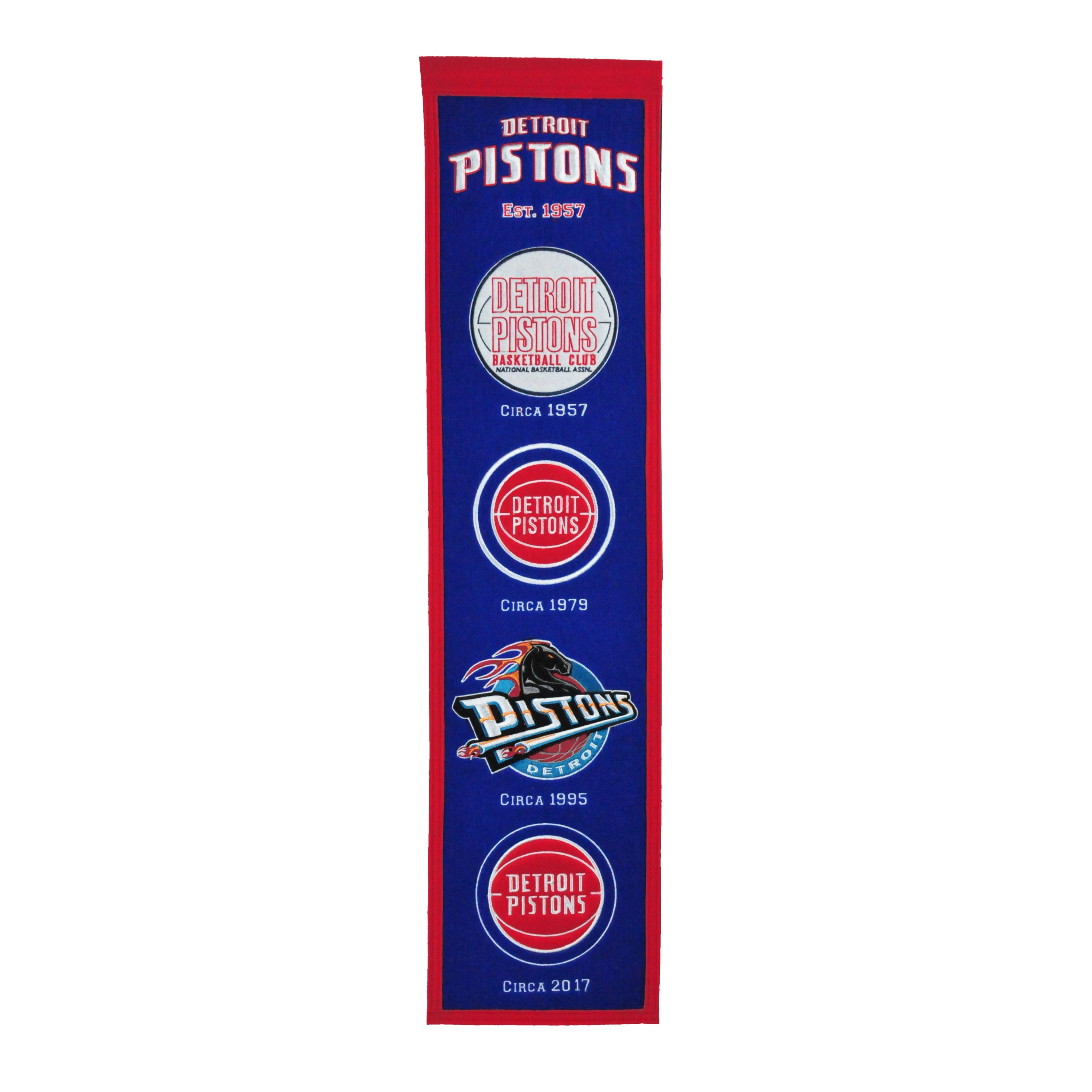 "Detroit Pistons 8"" x 32"" Premium Heritage Banner"