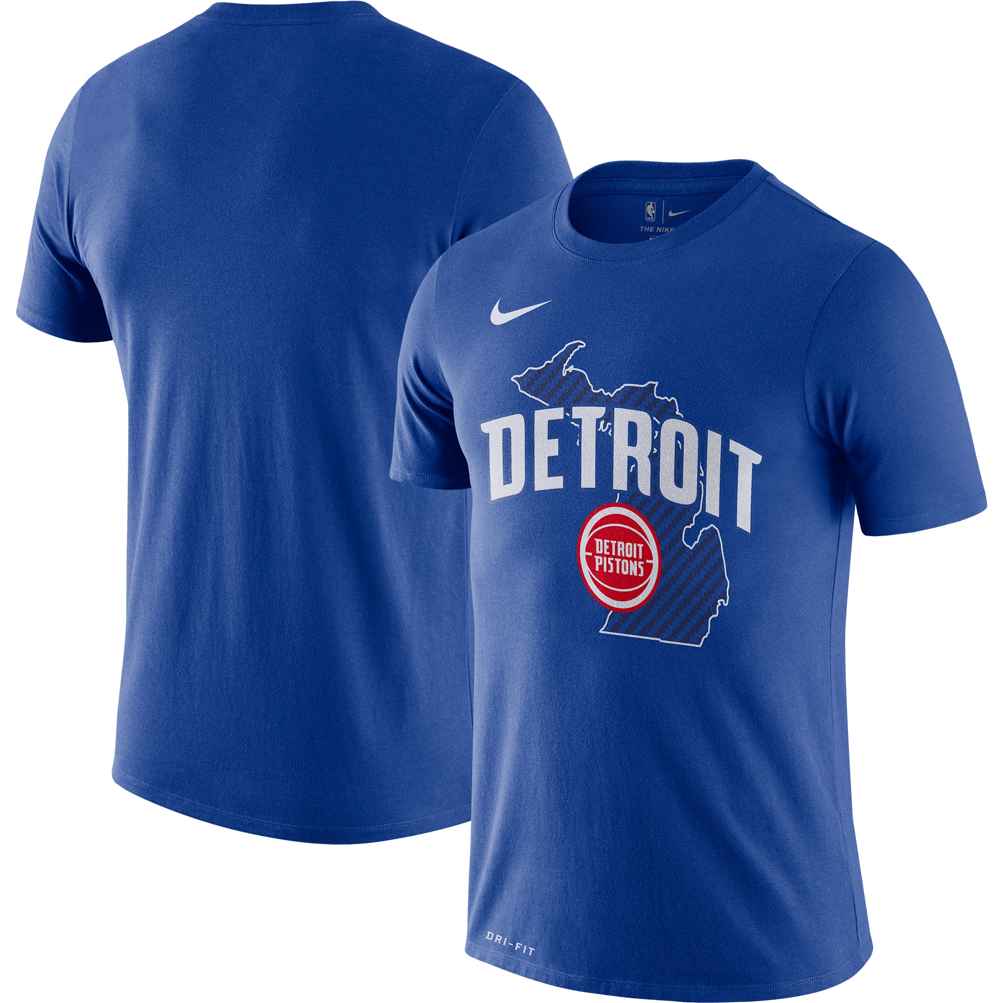 Detroit Pistons Nike 2019/20 City Edition Hometown Performance T-Shirt - Blue