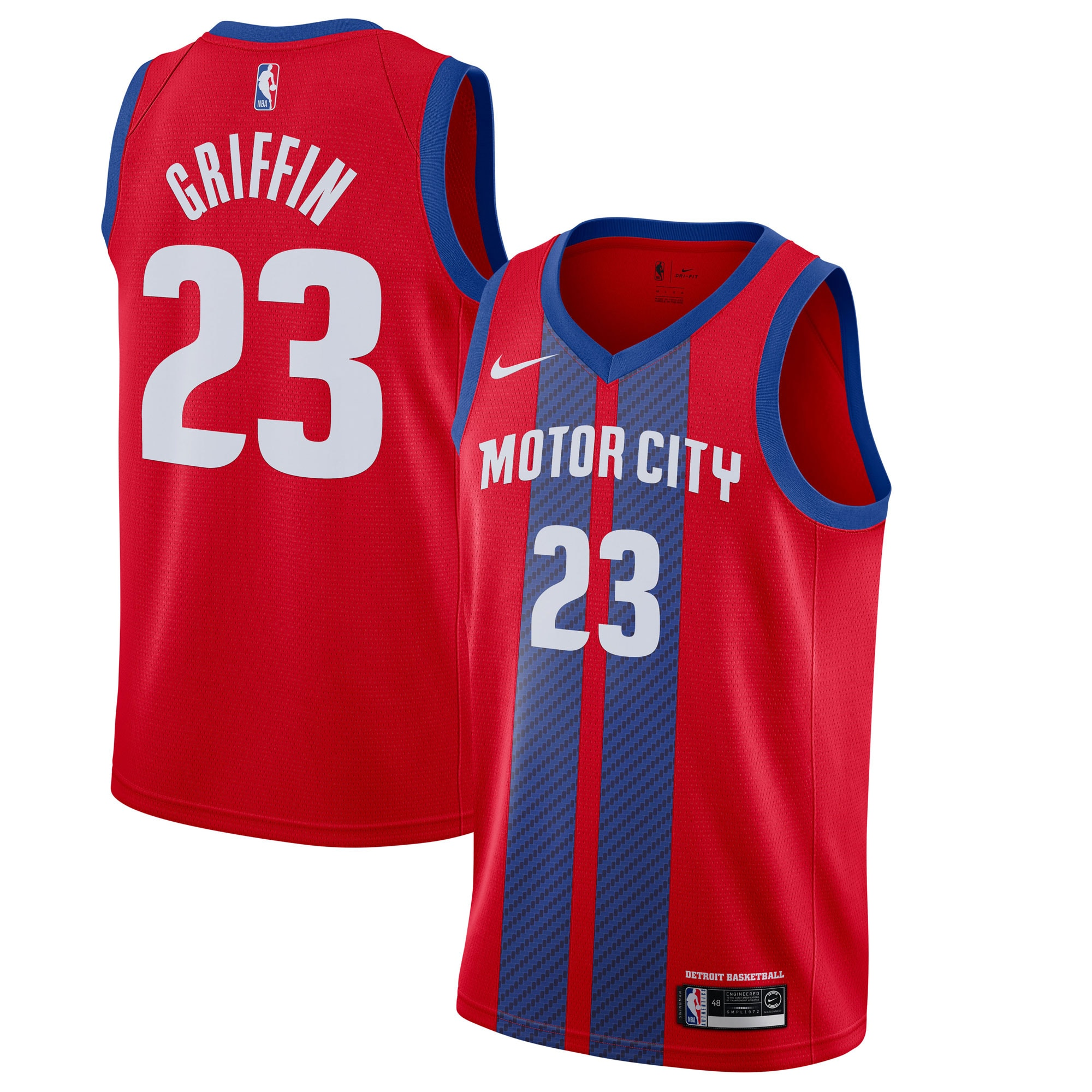 Blake Griffin Detroit Pistons Nike 2019/20 Finished Swingman Jersey Red - City Edition