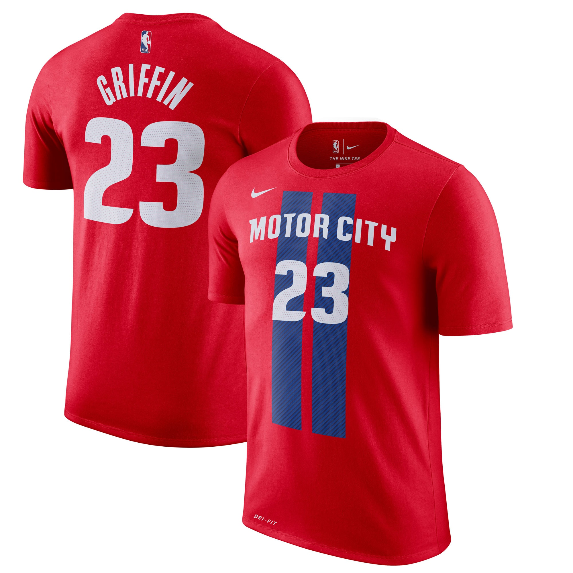 Blake Griffin Detroit Pistons Nike 2019/20 City Edition Name & Number T-Shirt - Red
