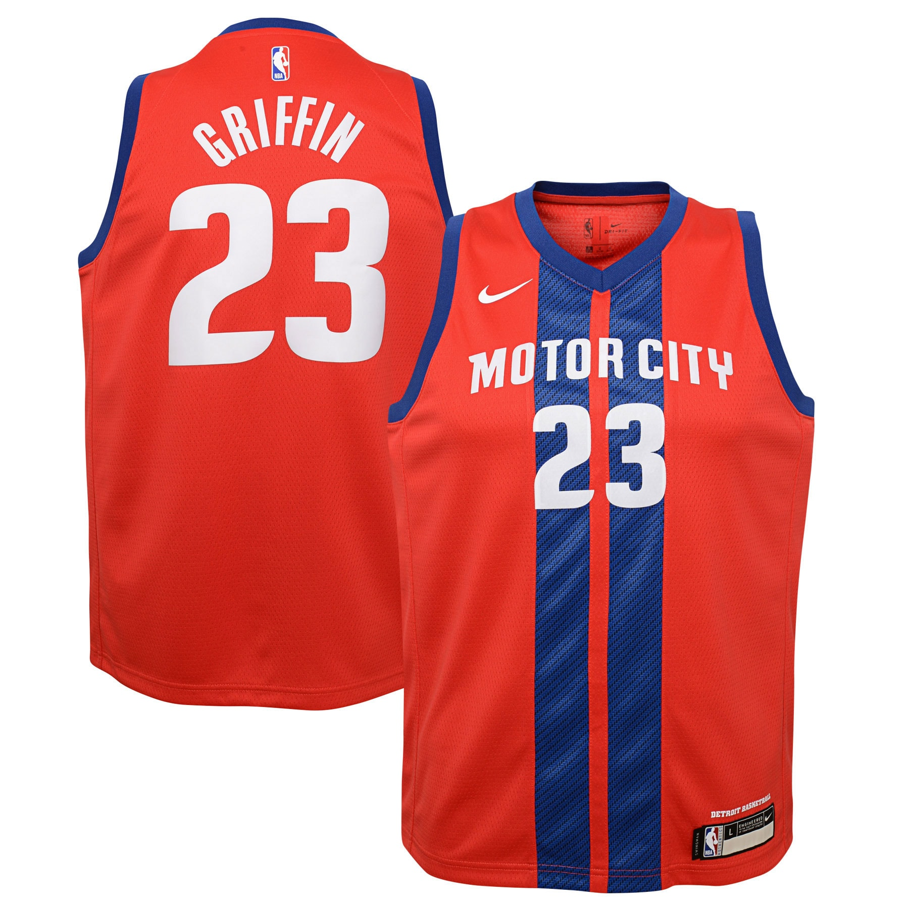 Blake Griffin Detroit Pistons Nike Youth Swingman Jersey Red - City Edition