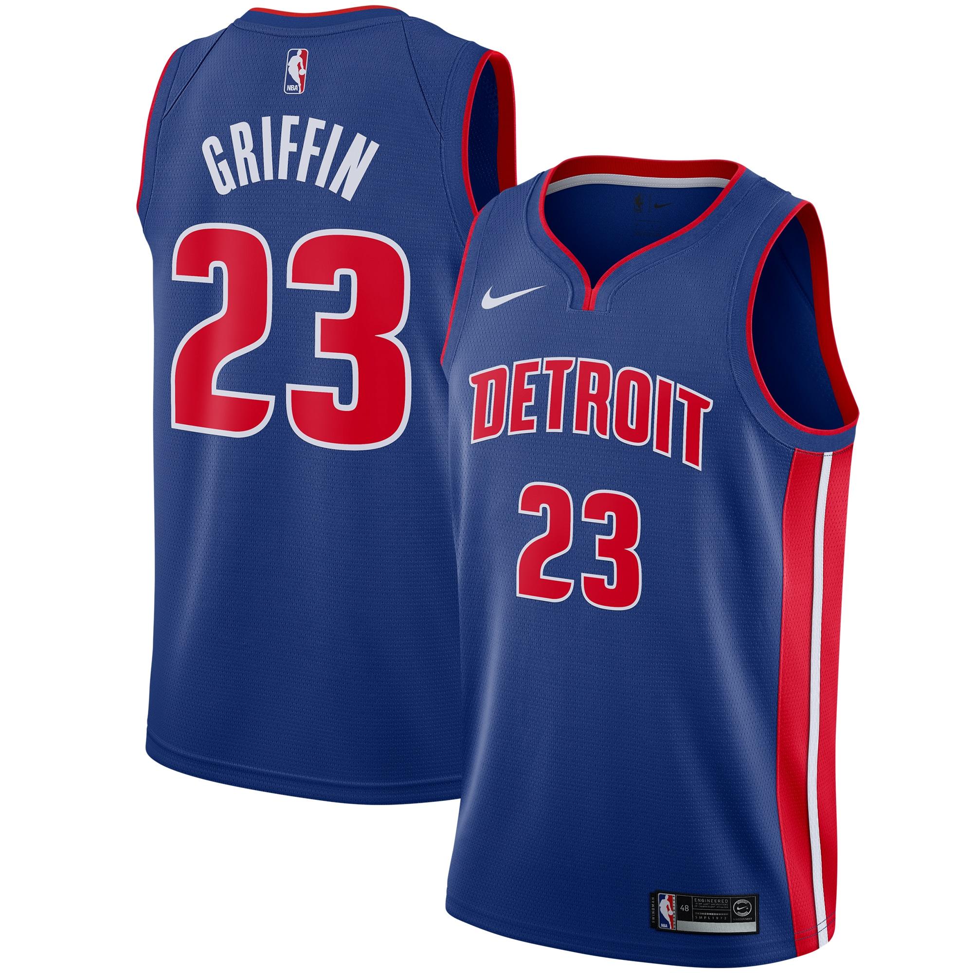 Blake Griffin Detroit Pistons Nike Swingman Jersey Blue - Icon Edition
