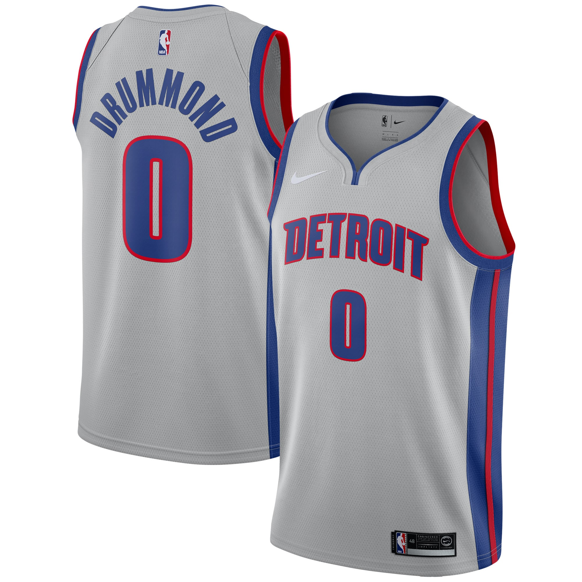 Andre Drummond Detroit Pistons Nike Swingman Jersey - Statement Edition - Silver