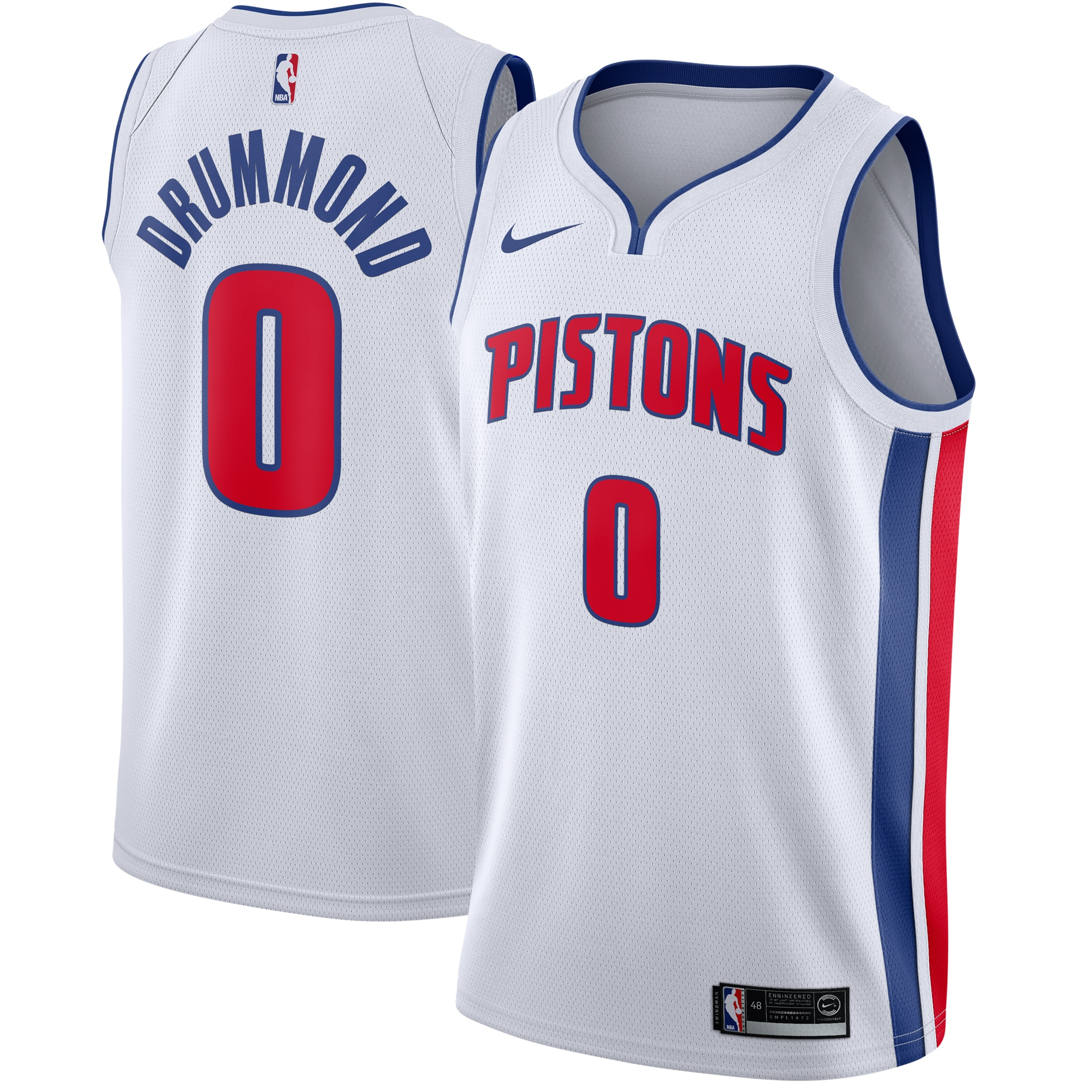 Andre Drummond Detroit Pistons Nike Swingman Jersey White - Association Edition
