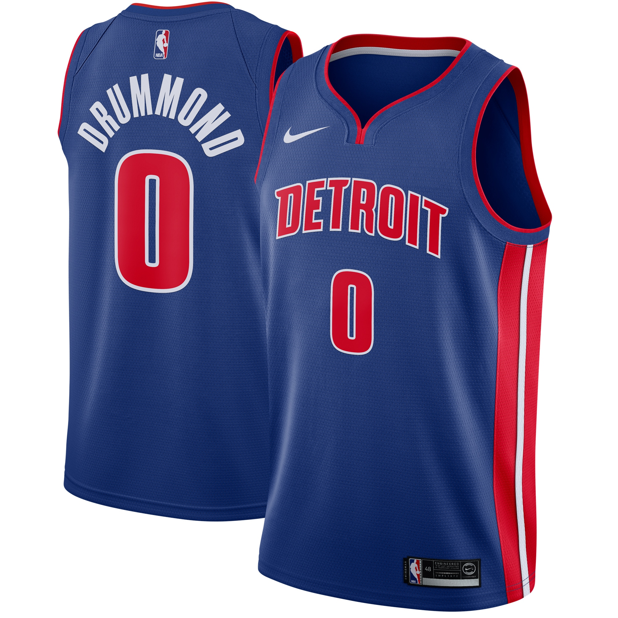 Andre Drummond Detroit Pistons Nike Swingman Jersey Blue - Icon Edition