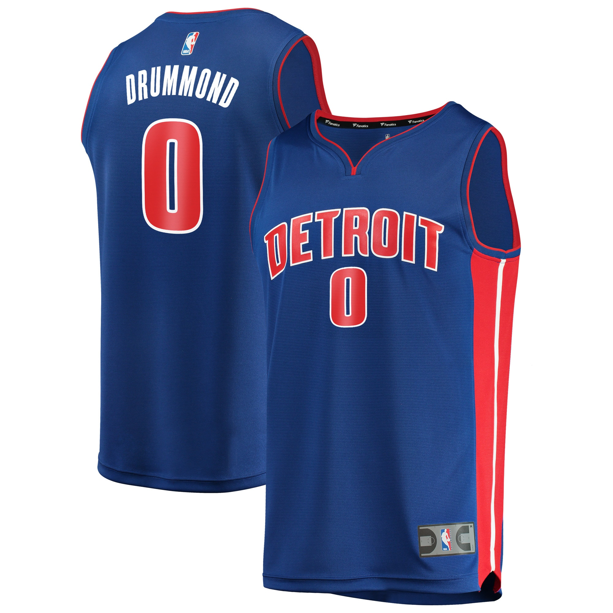 Andre Drummond Detroit Pistons Fanatics Branded Fast Break Replica Jersey Royal - Icon Edition