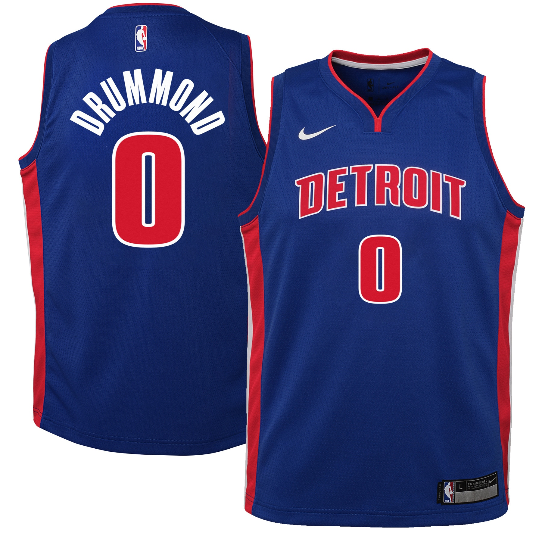 Andre Drummond Detroit Pistons Nike Youth Swingman Jersey Blue - Icon Edition