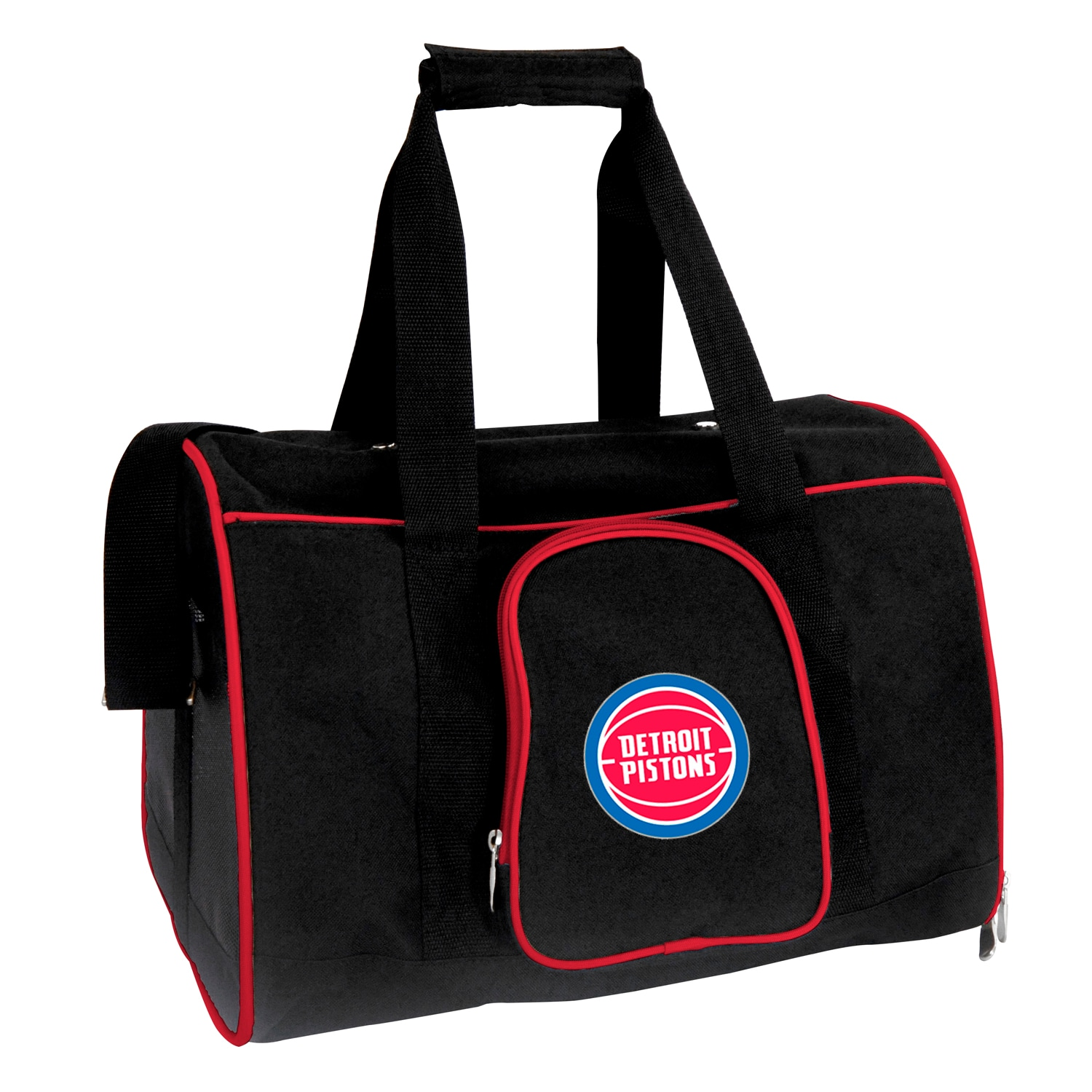 "Detroit Pistons Small 16"" Pet Carrier - Black"