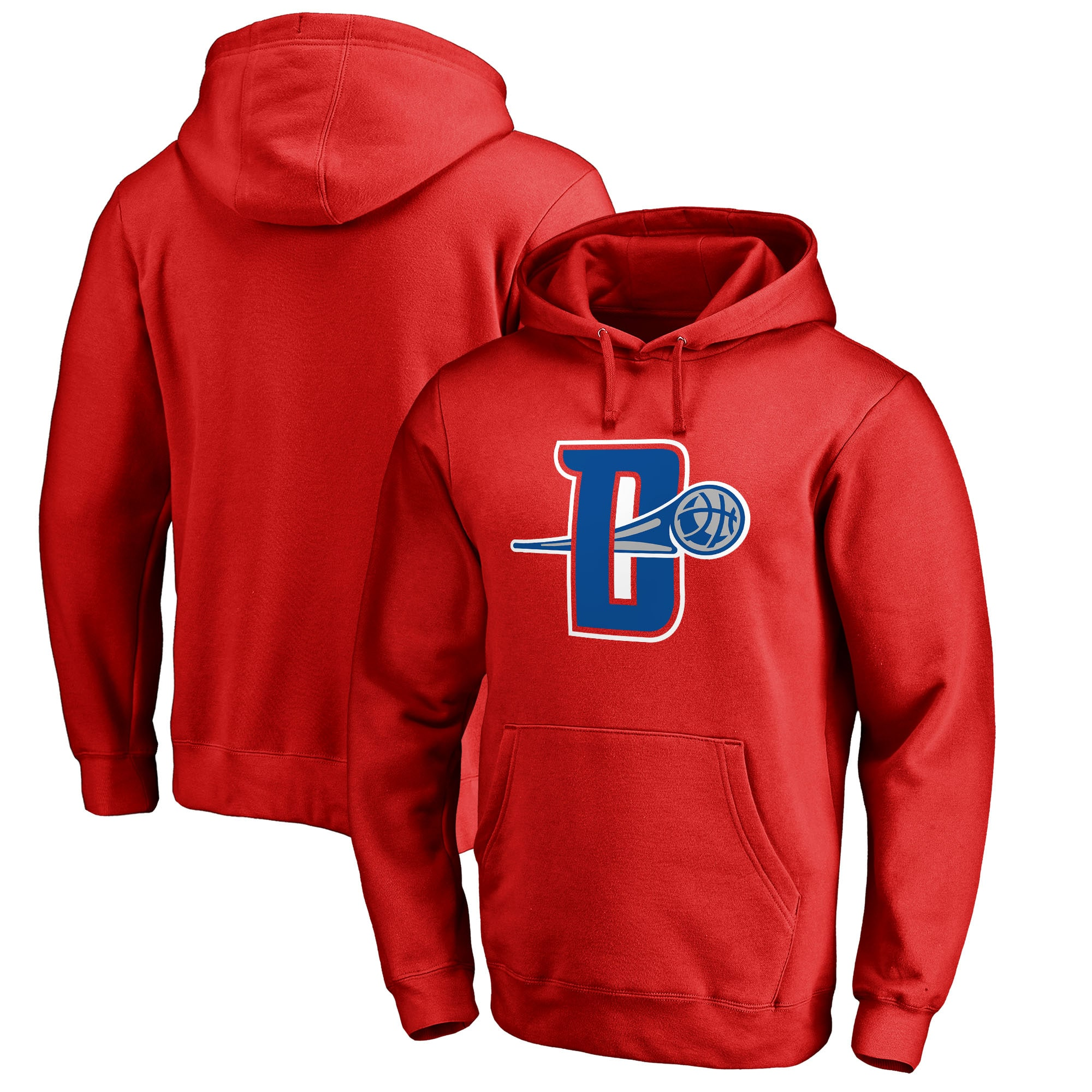Detroit Pistons Fanatics Branded Alternate Logo Pullover Hoodie - Red