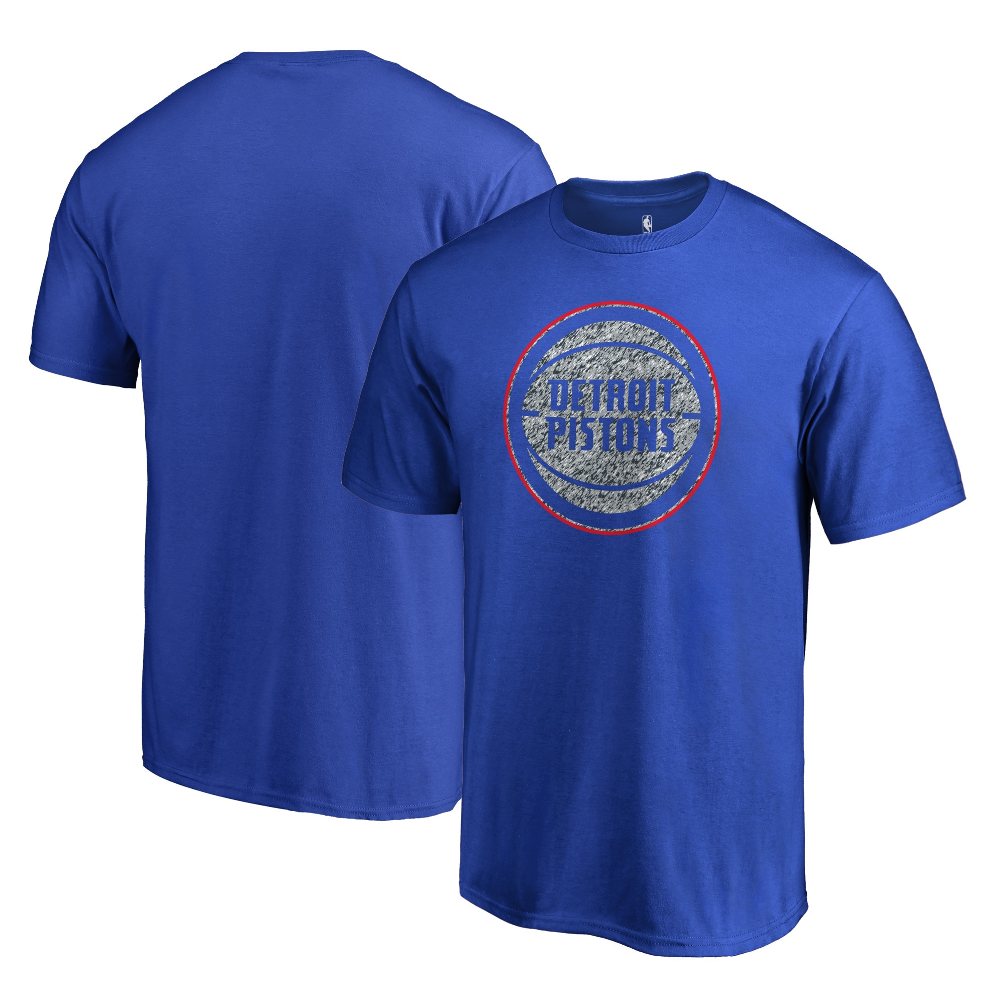 Detroit Pistons Fanatics Branded Static Logo T-Shirt - Royal