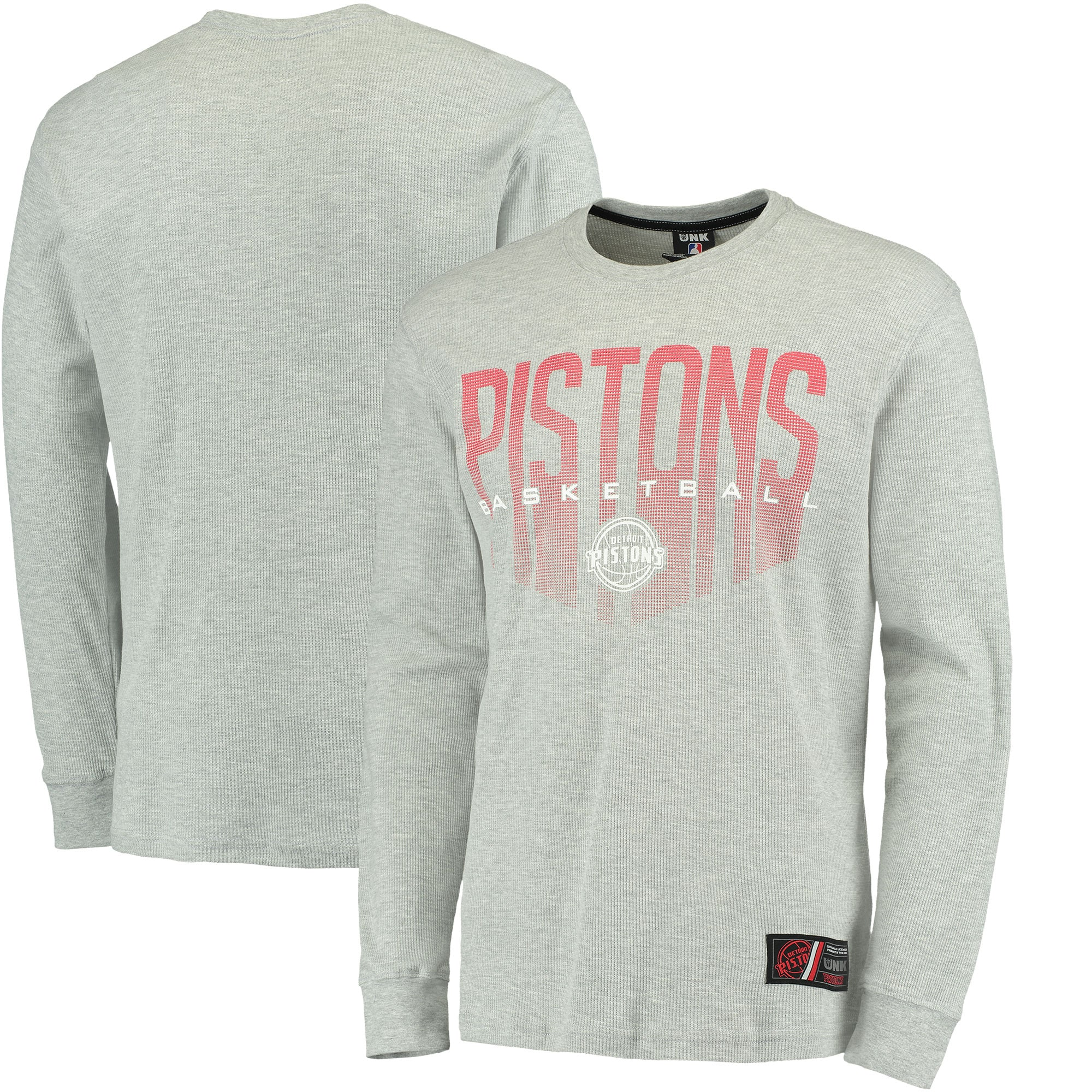 Detroit Pistons UNK Promo Core Long Sleeve Thermal T-Shirt - Gray