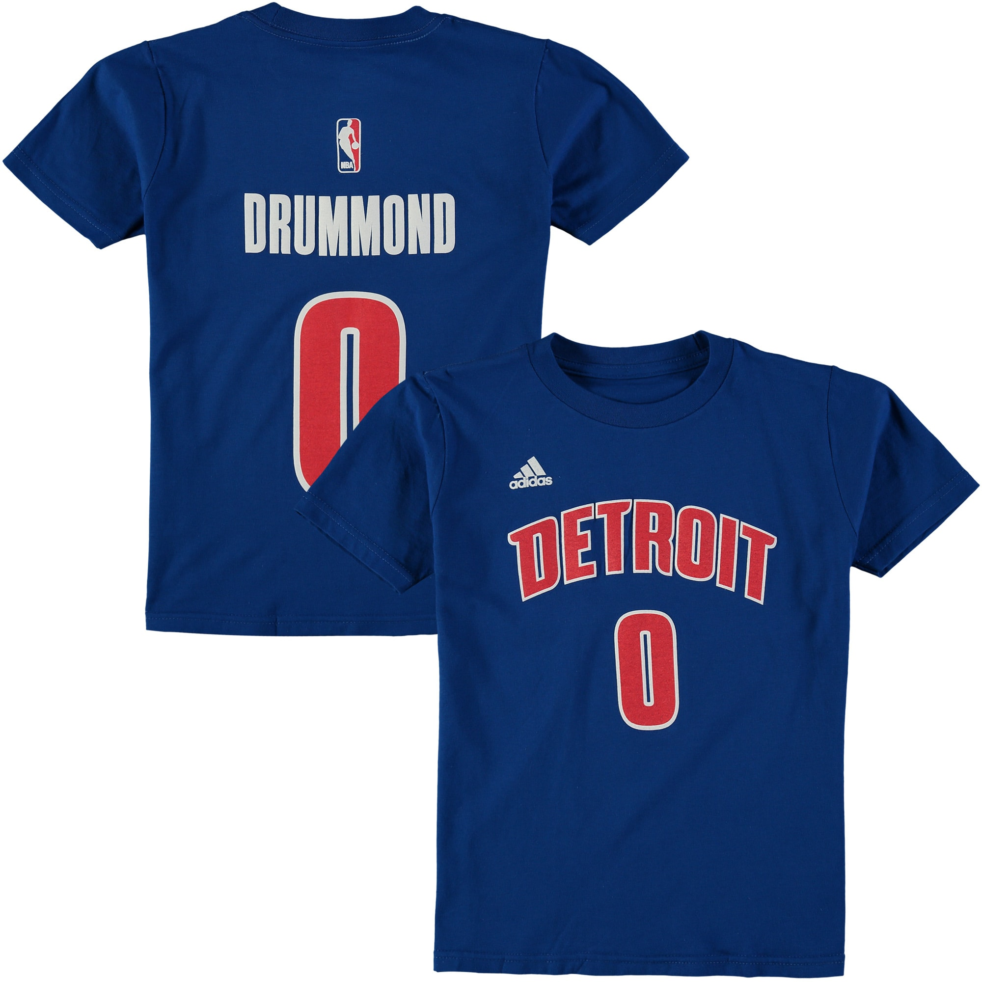 Andre Drummond Detroit Pistons Game Time Flat Name & Number T-Shirt - Royal