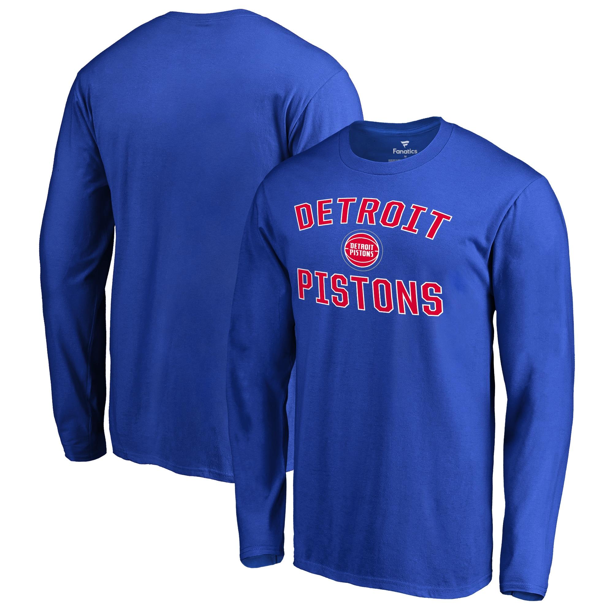 Detroit Pistons Big & Tall Victory Arch Long Sleeve T-Shirt - Royal