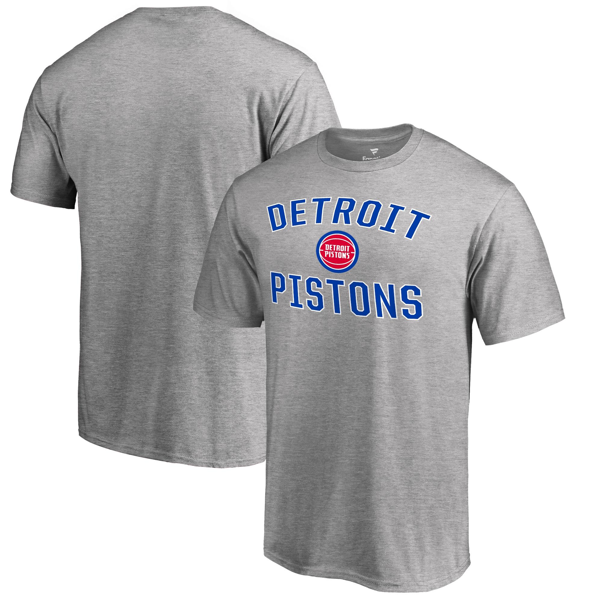 Detroit Pistons Victory Arch T-Shirt - Ash