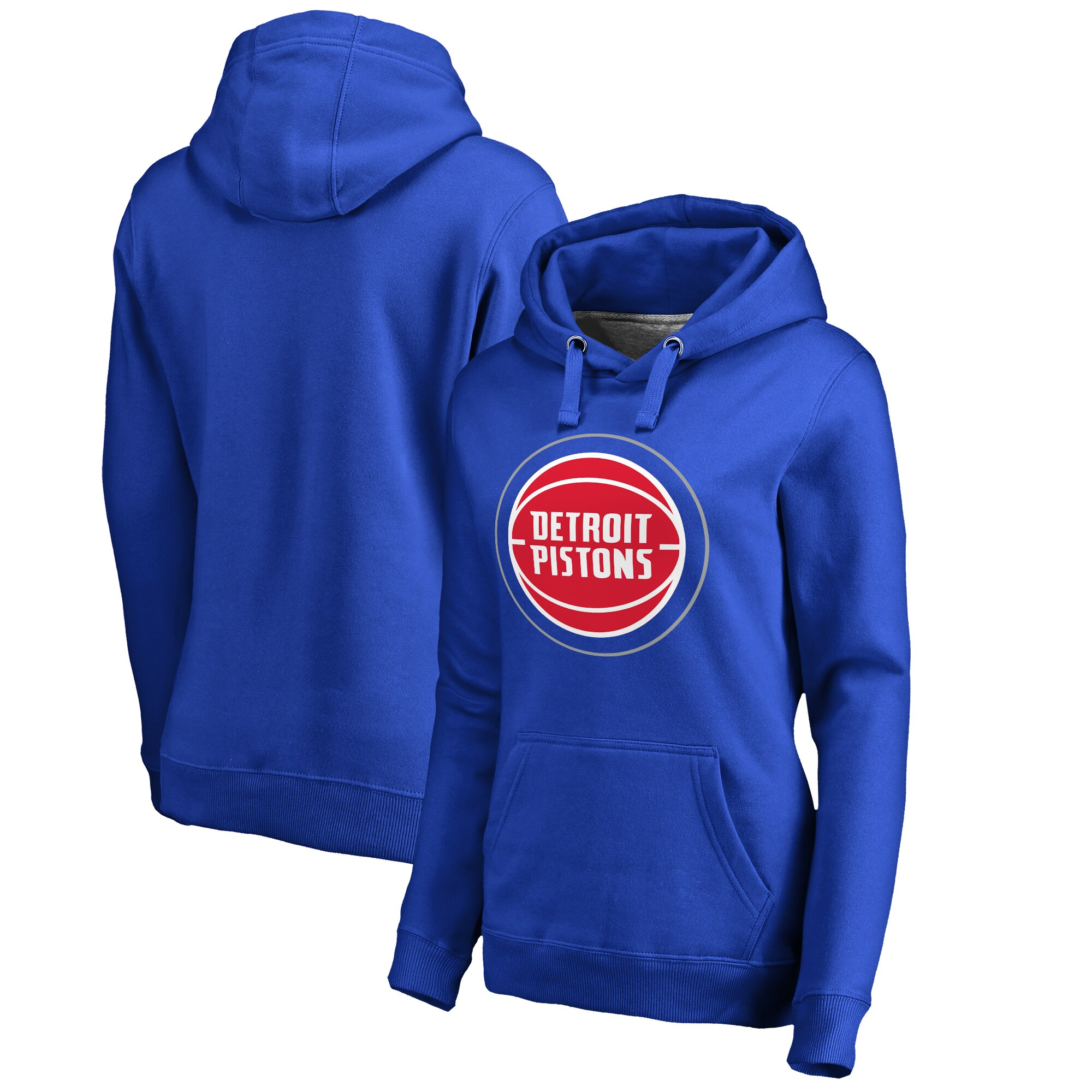 Detroit Pistons Fanatics Branded Women's Primary Logo Pullover Hoodie - Blue