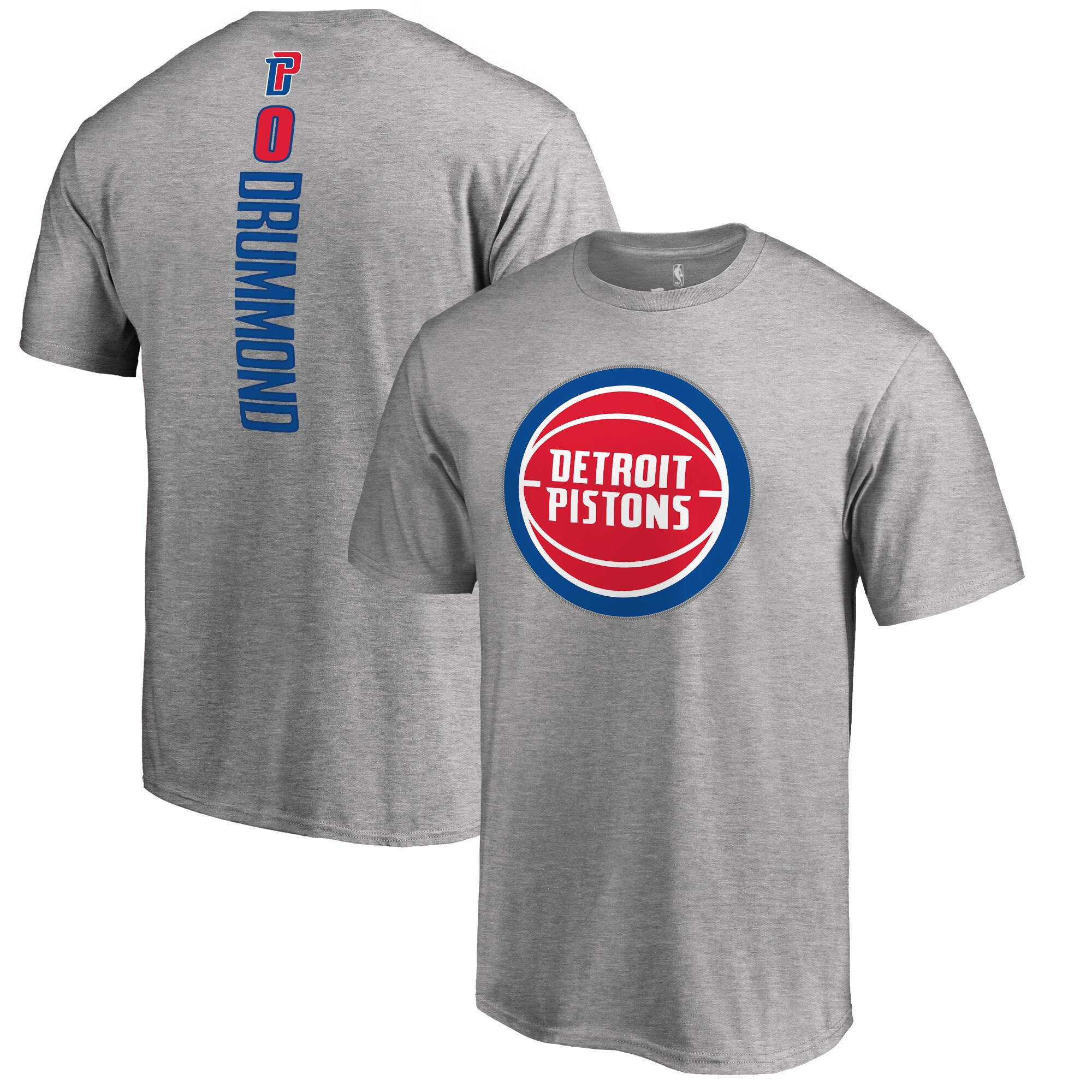 Andre Drummond Detroit Pistons Backer T-Shirt - Ash
