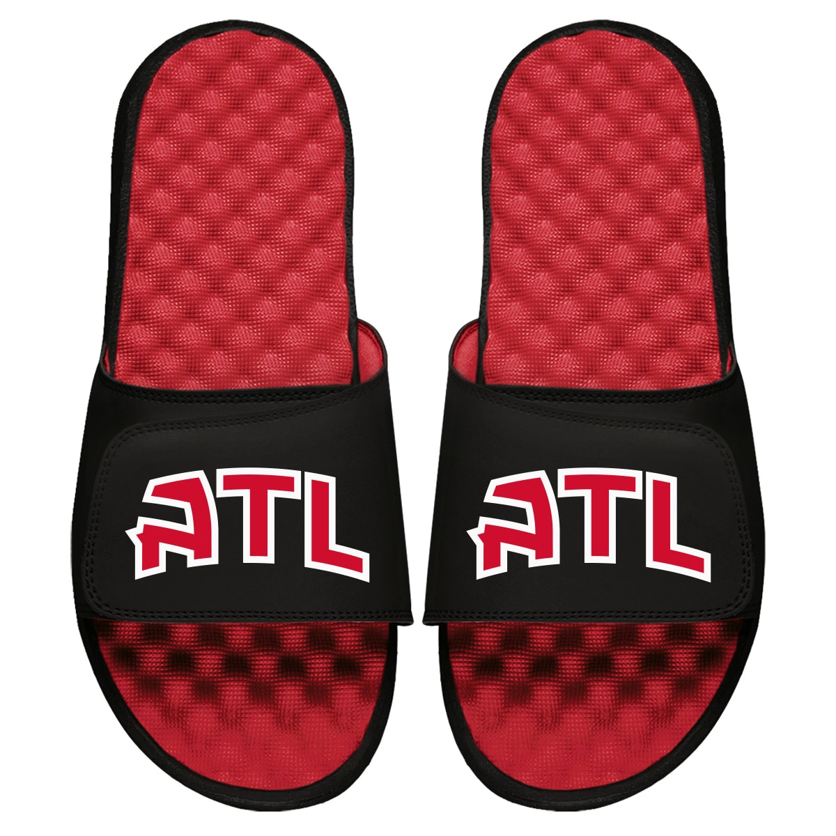 Atlanta Hawks ISlide Secondary Logo Slide Sandals - Red