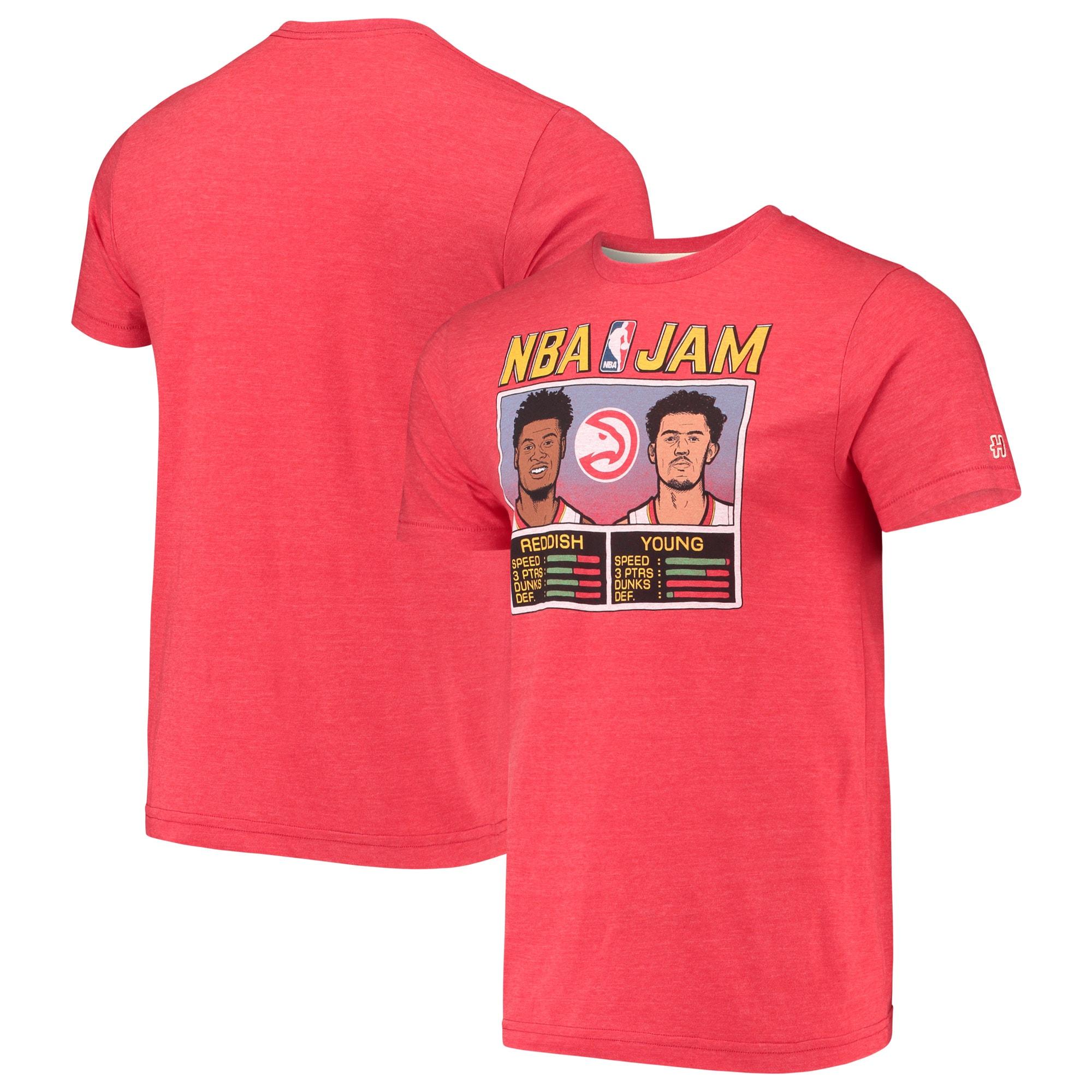 Cam Reddish & Trae Young Atlanta Hawks NBA Jam T-Shirt - Red