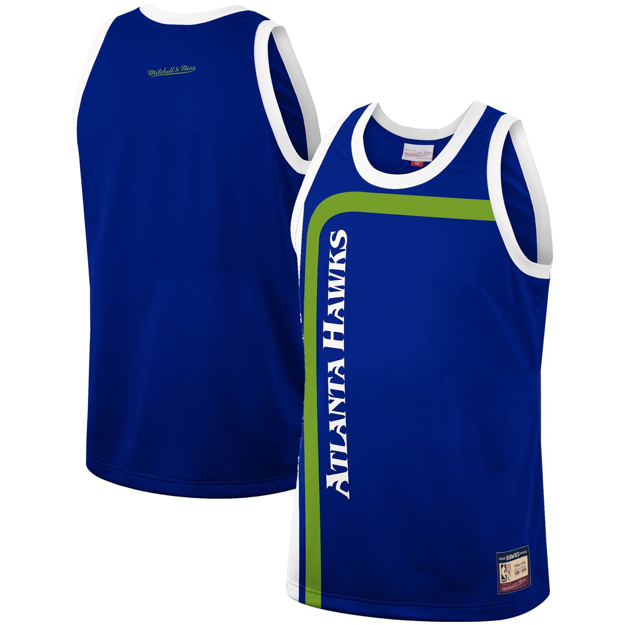 Atlanta Hawks Mitchell & Ness Hardwood Classics Team Heritage Fashion Jersey - Blue