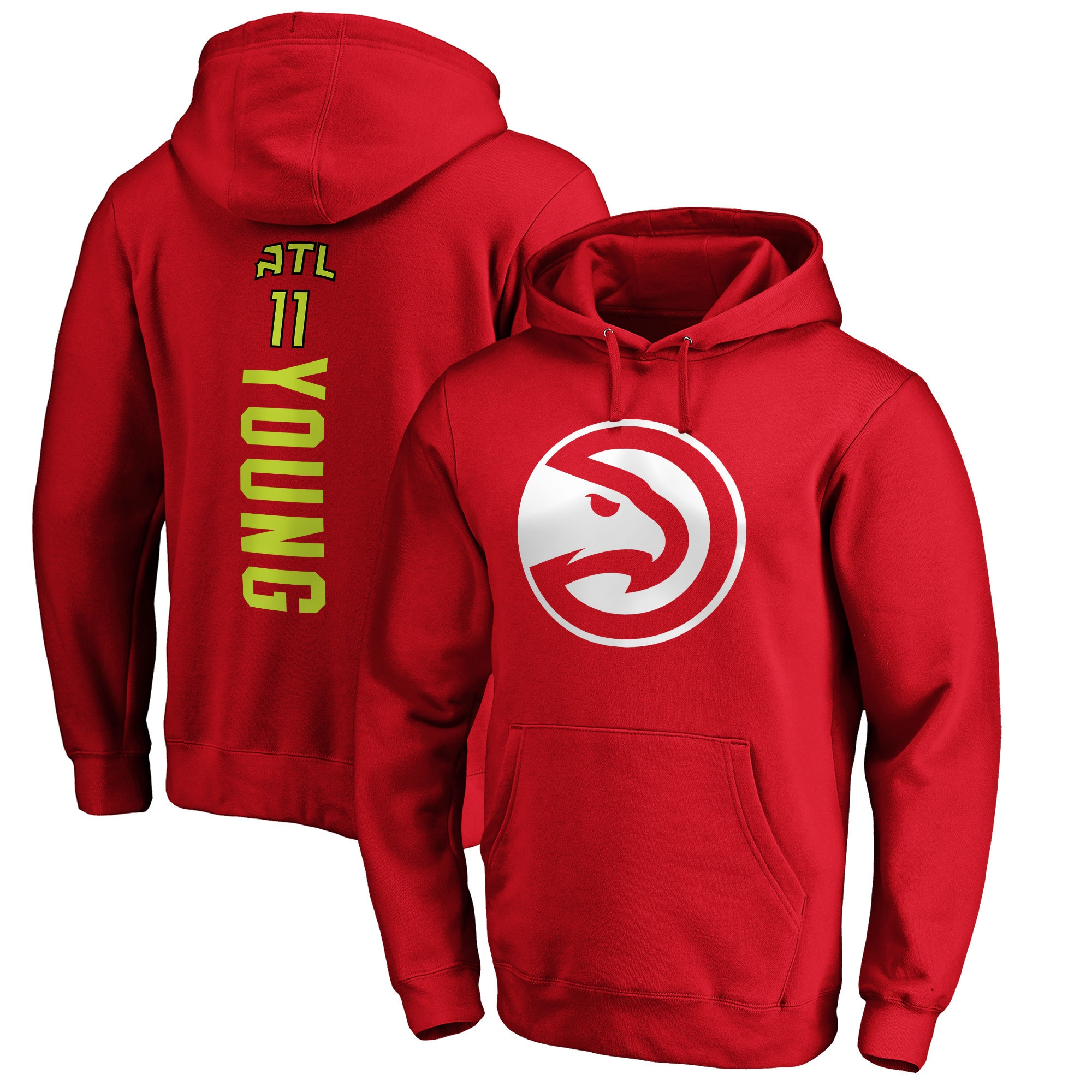 Trae Young Atlanta Hawks Fanatics Branded Team Playmaker Name & Number Pullover Hoodie - Red