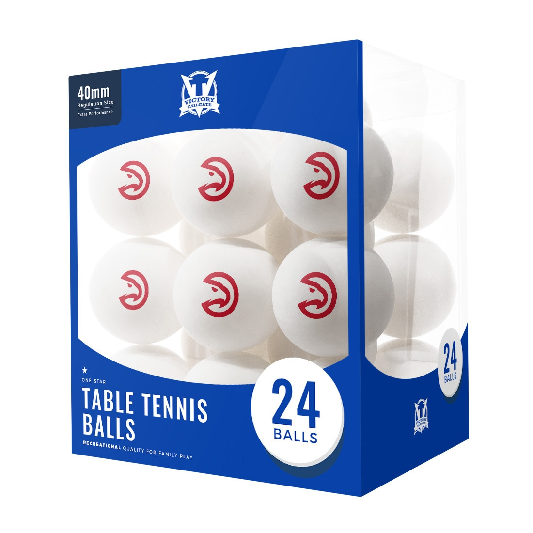 Atlanta Hawks 24-Count Logo Table Tennis Balls