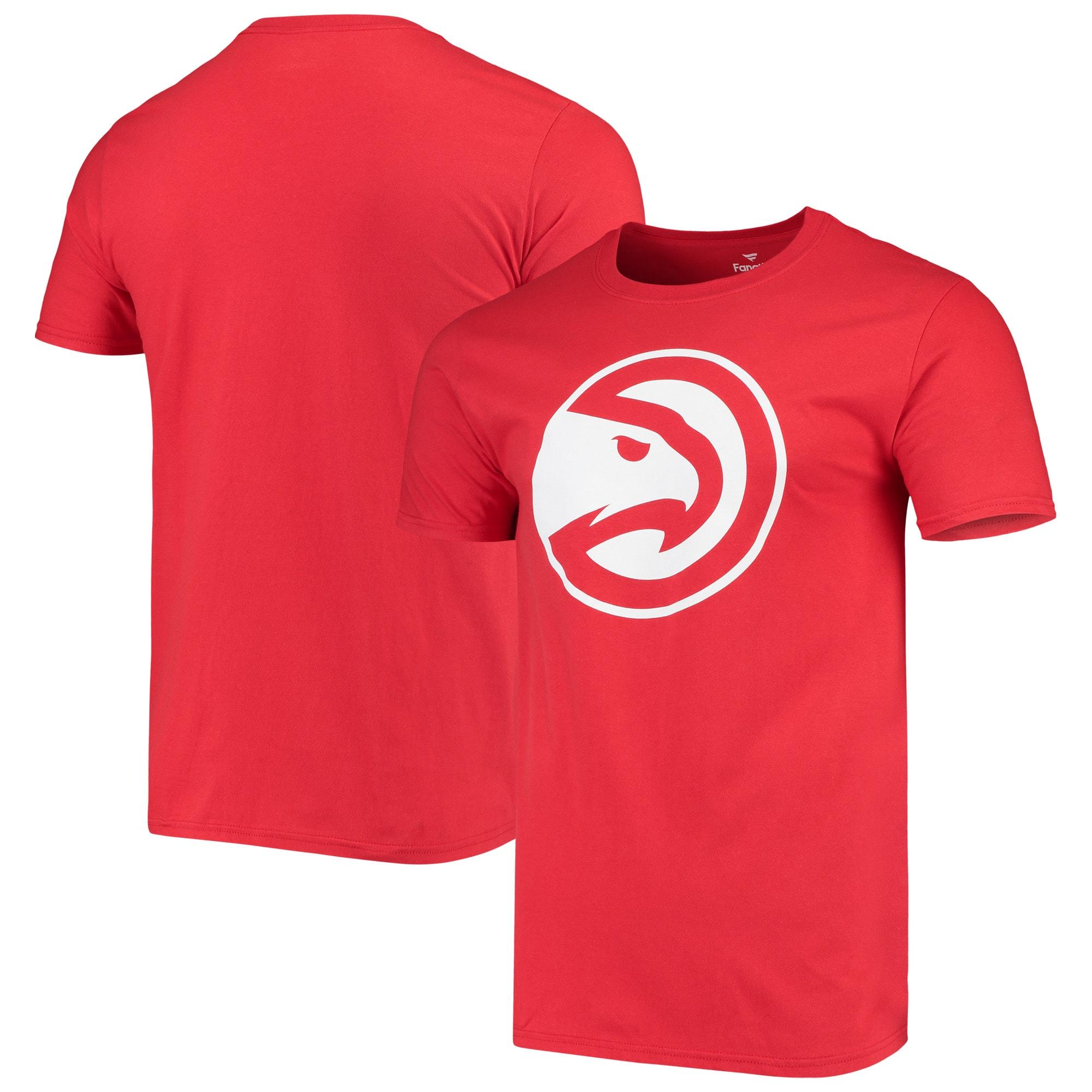 Atlanta Hawks Fanatics Branded Primary Team Logo T-Shirt - Red