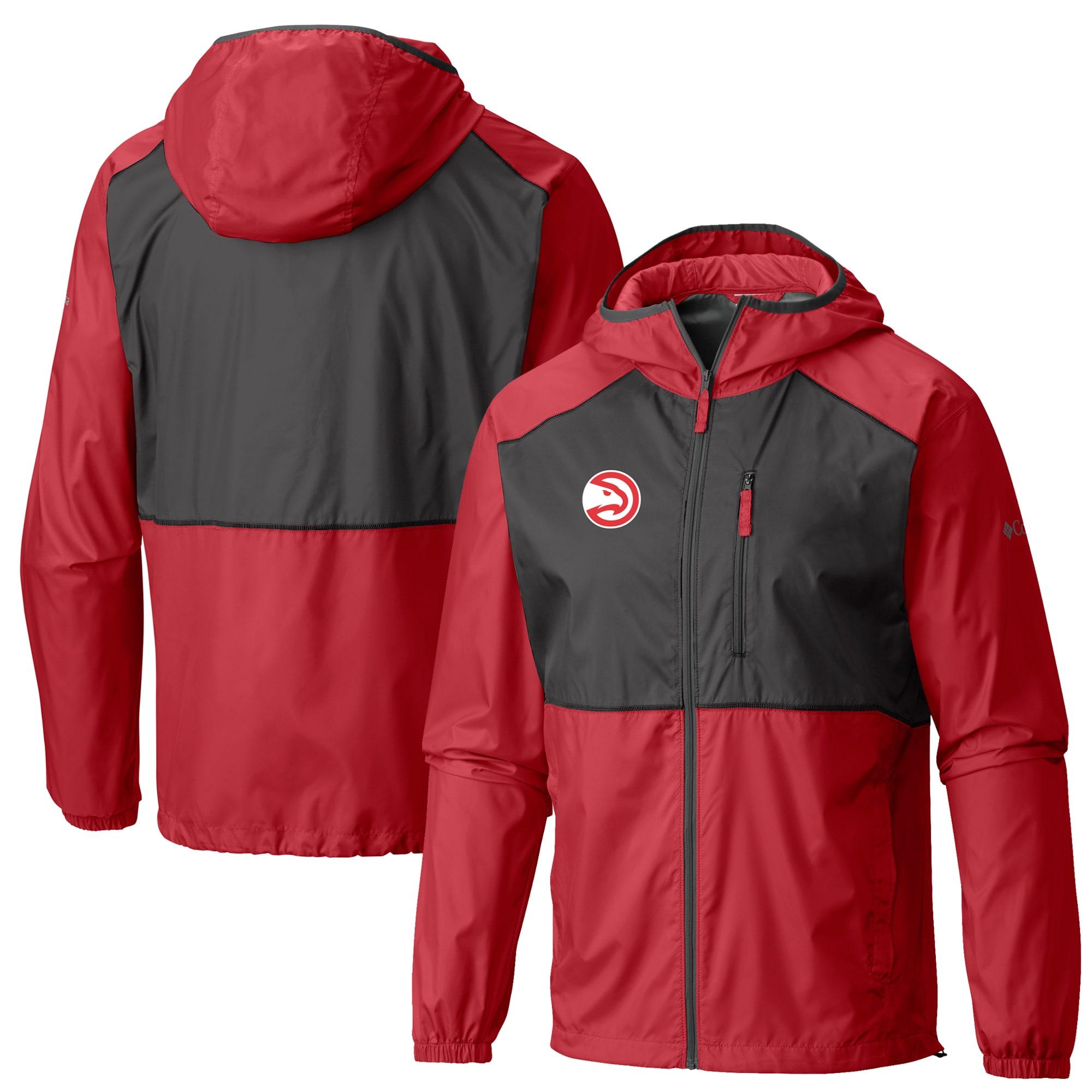 Atlanta Hawks Columbia Flash Forward Full-Zip Windbreaker Jacket - Red
