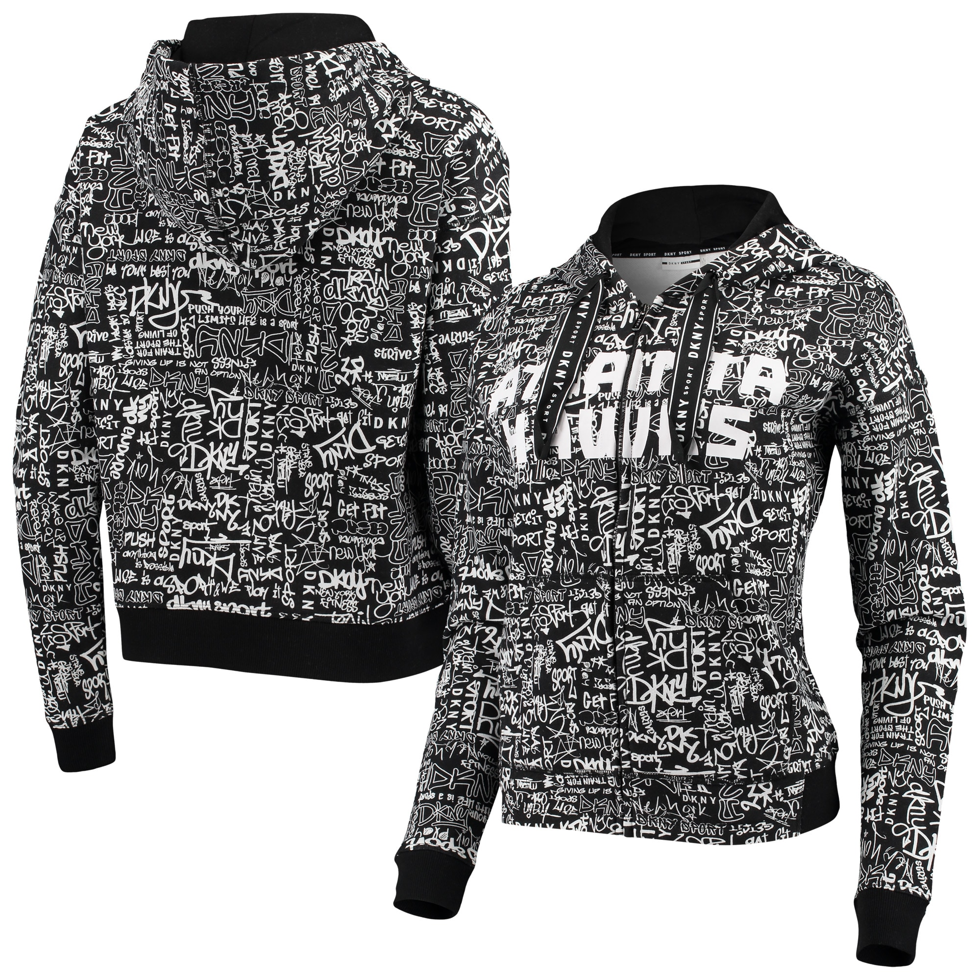 Atlanta Hawks DKNY Sport Women's Urban Pullover Hoodie - Black