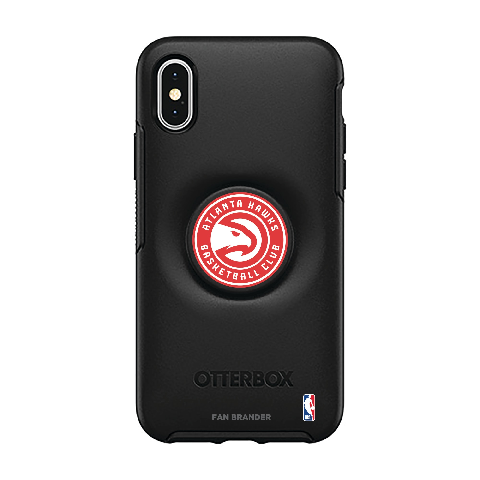 Atlanta Hawks OtterBox Otter + Pop Symmetry Series iPhone Case with Integrated PopSockets PopGrip