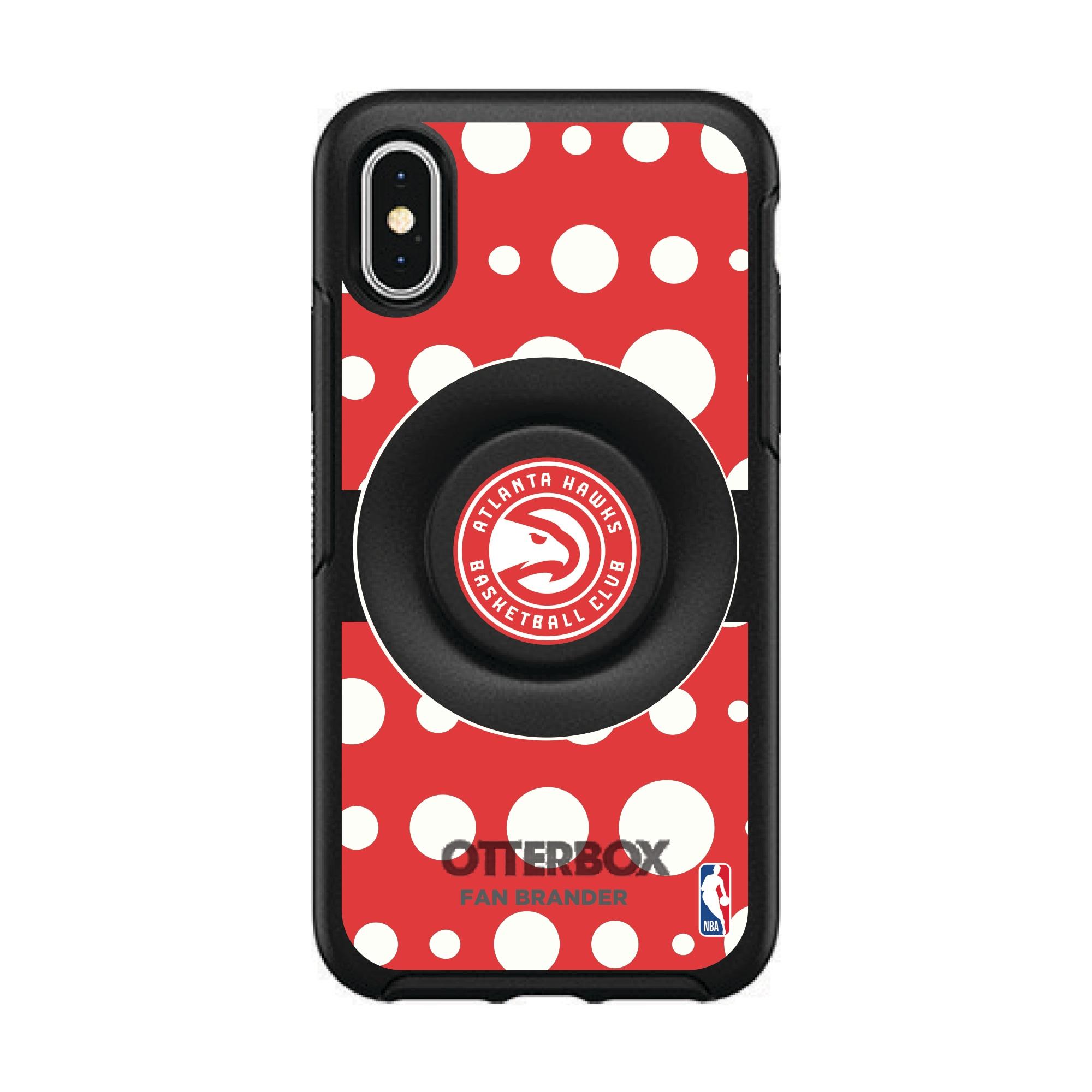 Atlanta Hawks OtterBox Otter+Pop PopSocket Polka Dot iPhone Case