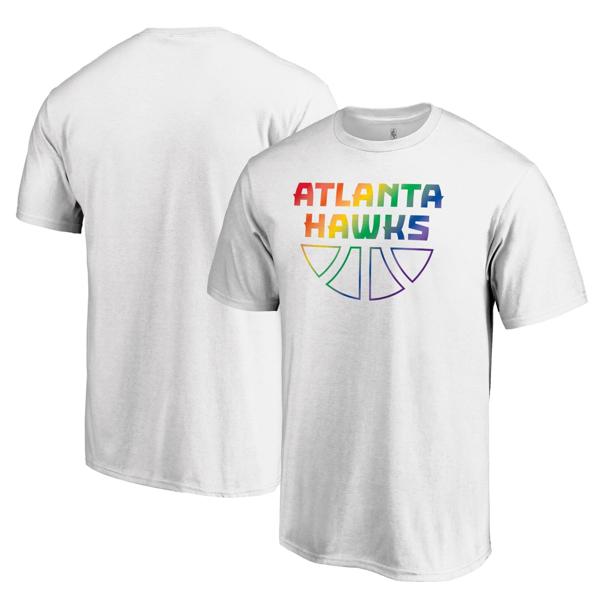 Atlanta Hawks Fanatics Branded Team Pride Wordmark T-Shirt - White