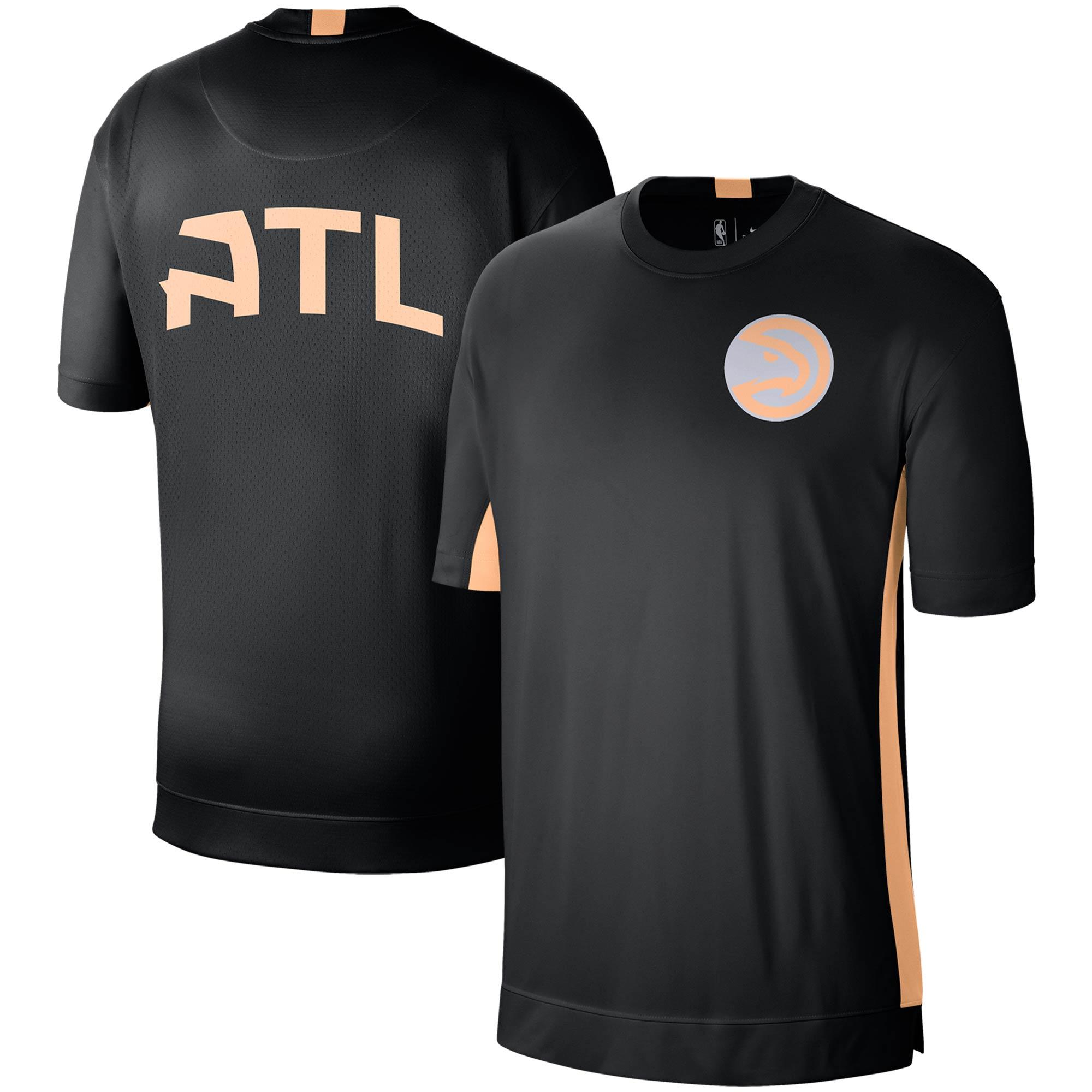 Atlanta Hawks Nike City Edition 2.0 Shooting Performance T-Shirt - Black/Orange