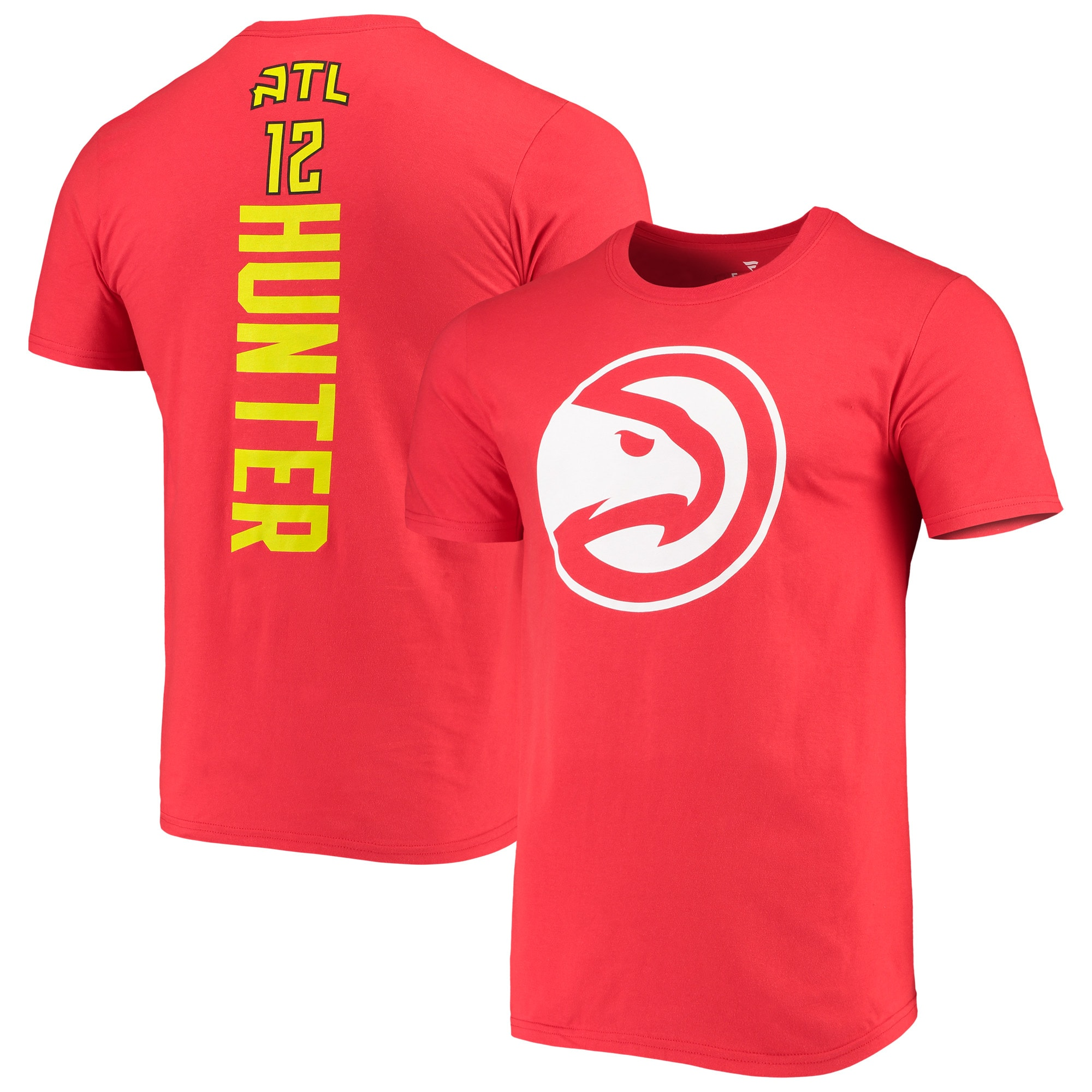 De'Andre Hunter Atlanta Hawks Fanatics Branded Playmaker Name & Number Logo T-Shirt - Red