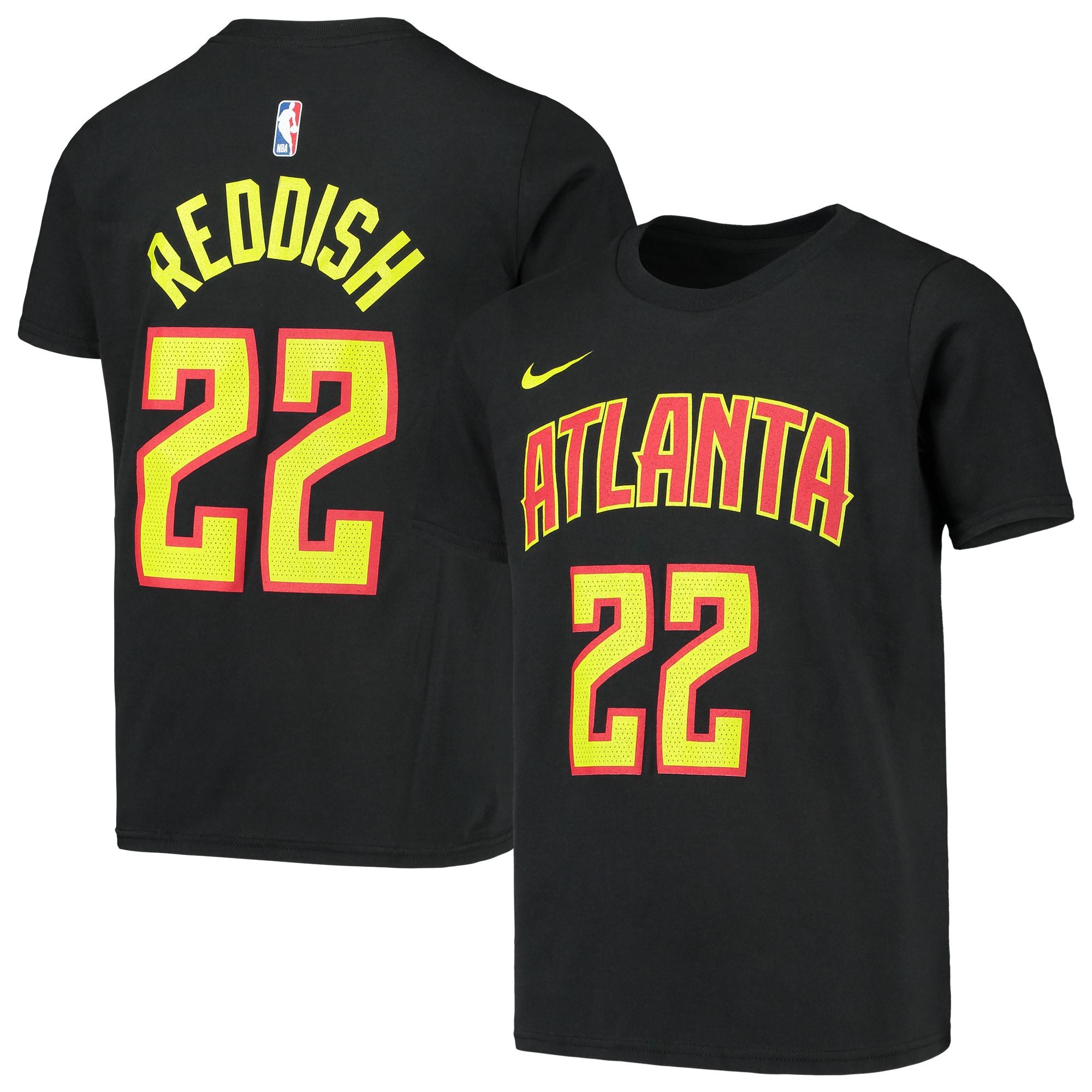 Cam Reddish Atlanta Hawks Nike Youth Name & Number Performance T-Shirt - Black