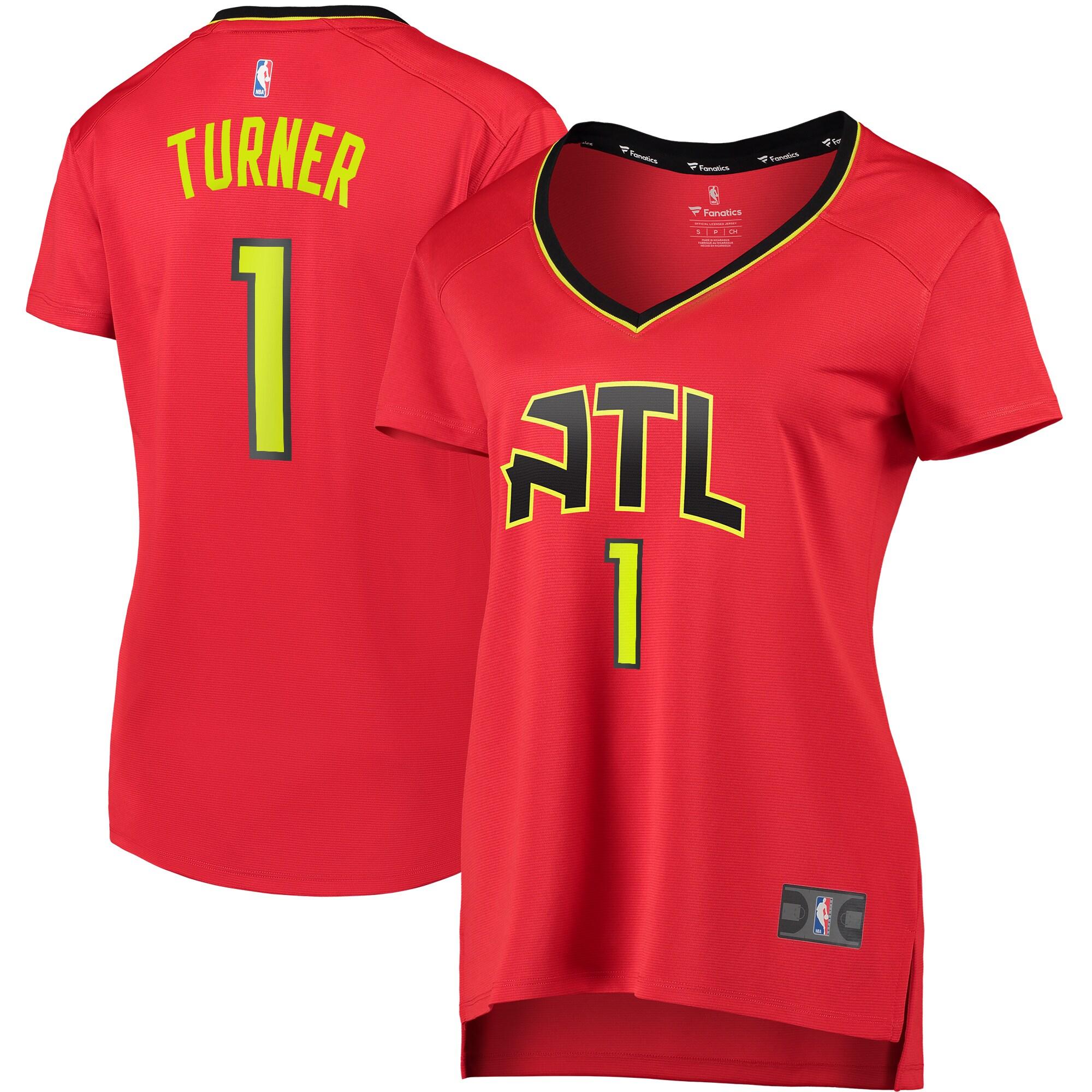 Evan Turner Atlanta Hawks Fanatics Branded Women's Fast Break Replica Jersey Red - Statement Edition