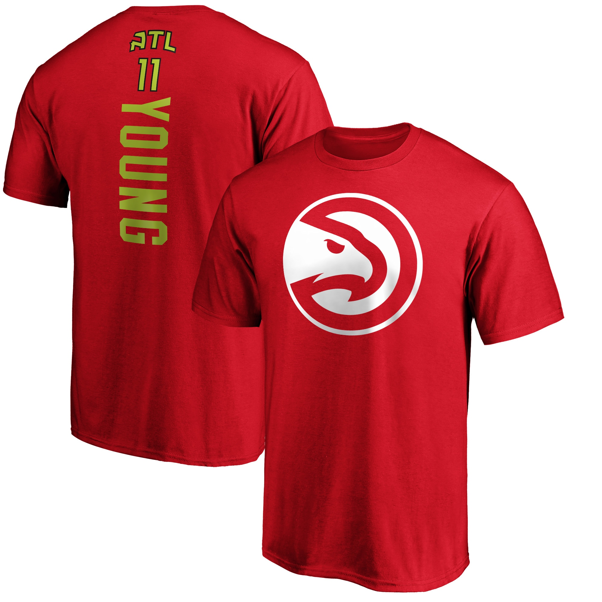 Trae Young Atlanta Hawks Fanatics Branded Big & Tall Playmaker Name & Number Team T-Shirt - Red
