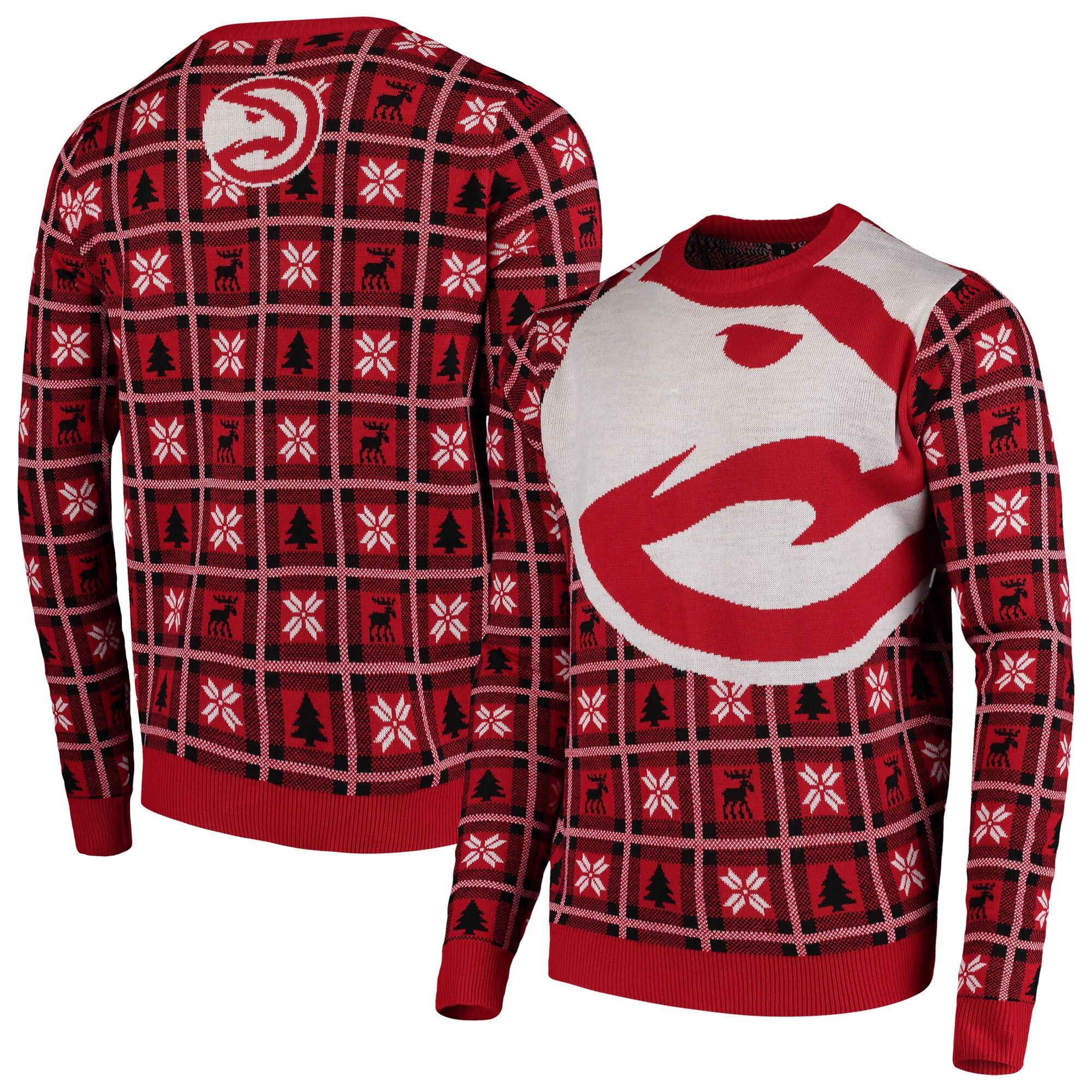 Atlanta Hawks Big Logo Ugly Sweater - Red