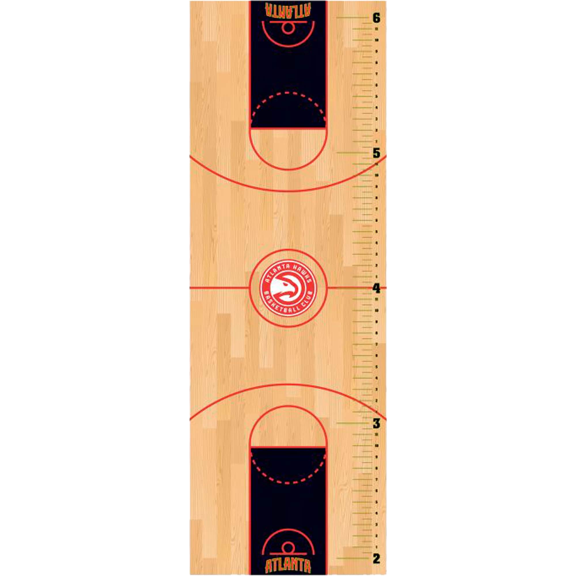 Atlanta Hawks Fathead Basketball Court Large Removable Growth Chart