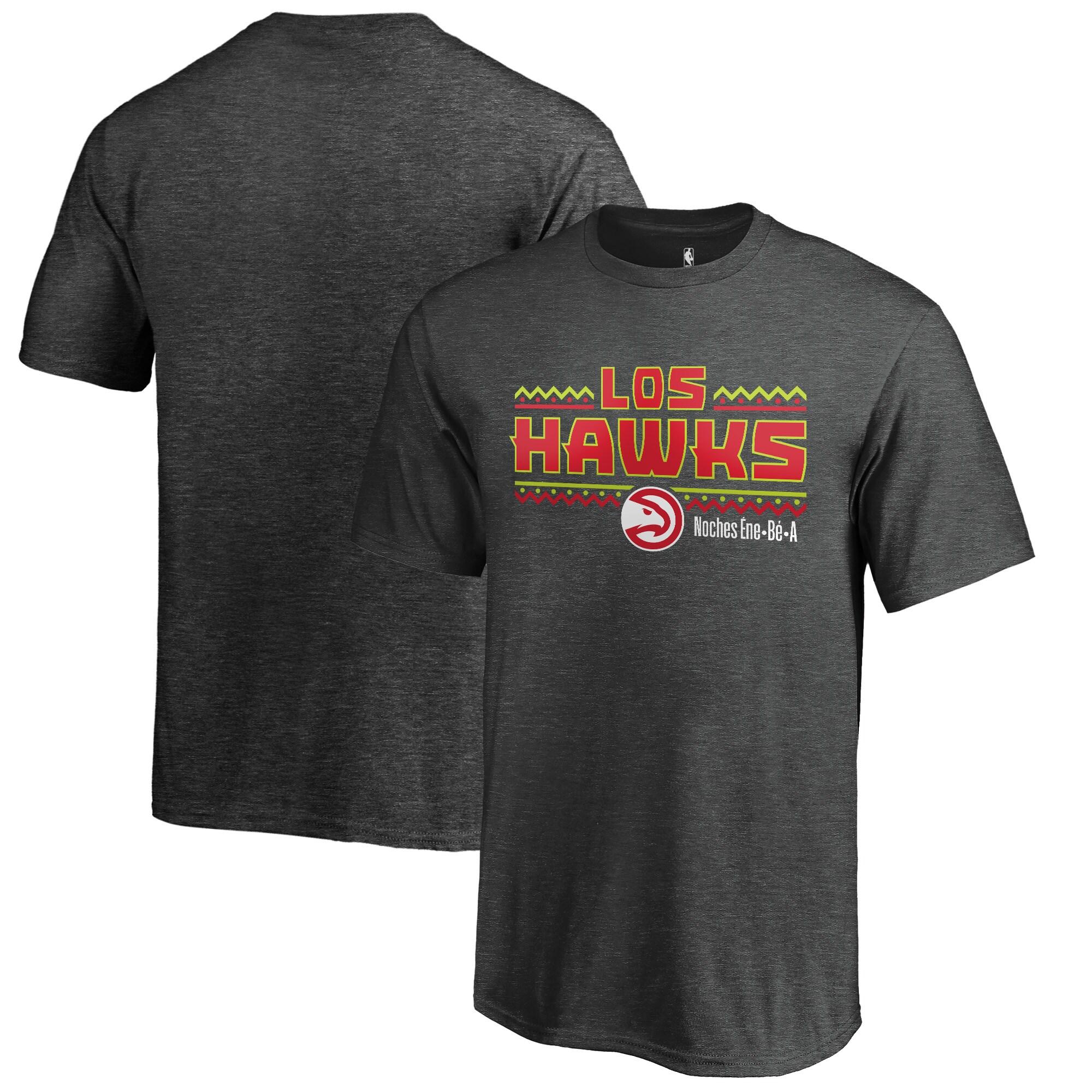 Atlanta Hawks Fanatics Branded Youth Noches Ene-Be-A T-Shirt - Heather Gray