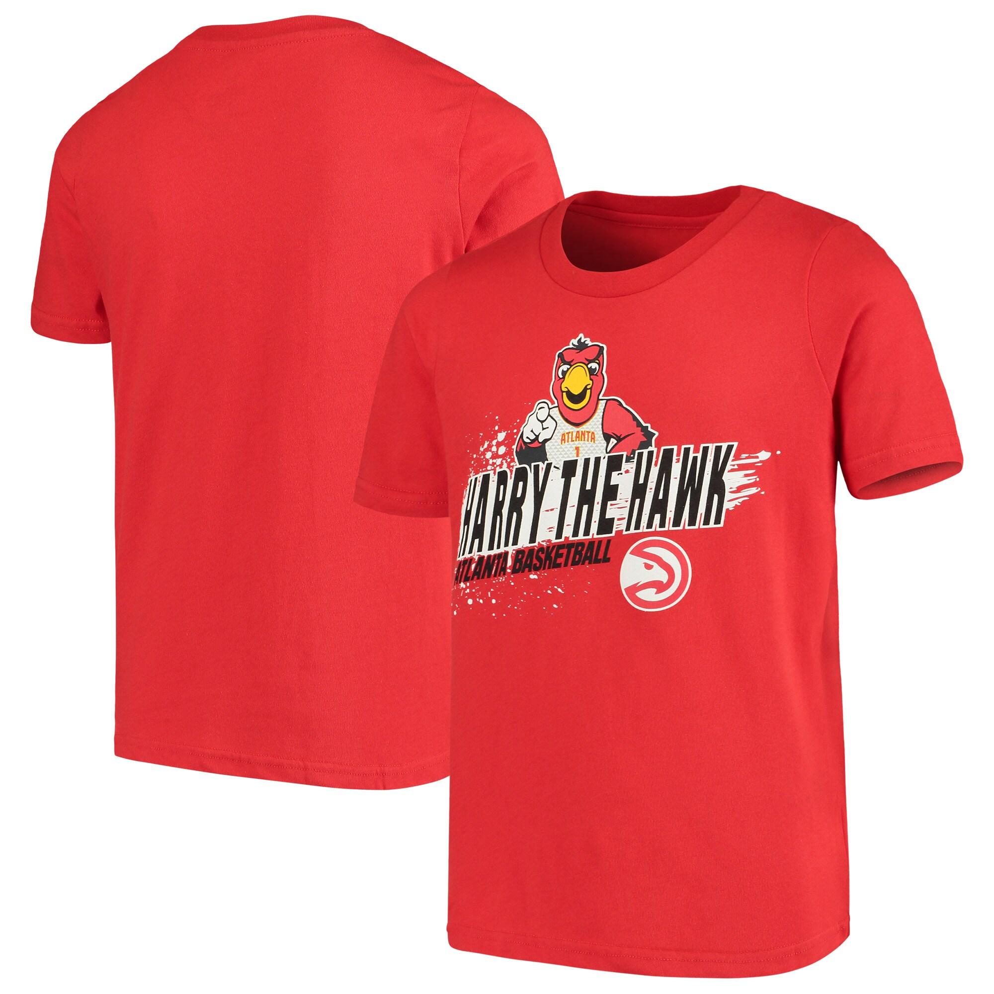 Atlanta Hawks Youth Mascot Ice Break T-Shirt - Red