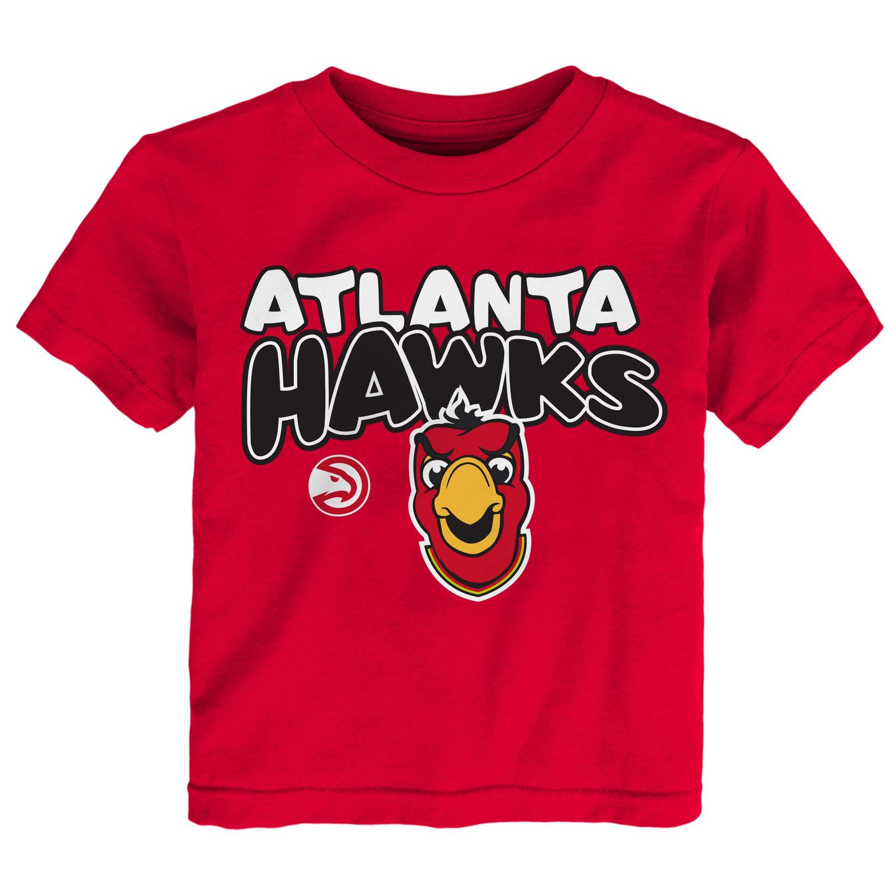 Atlanta Hawks Preschool & Toddler Bubble Letter T-Shirt - Red