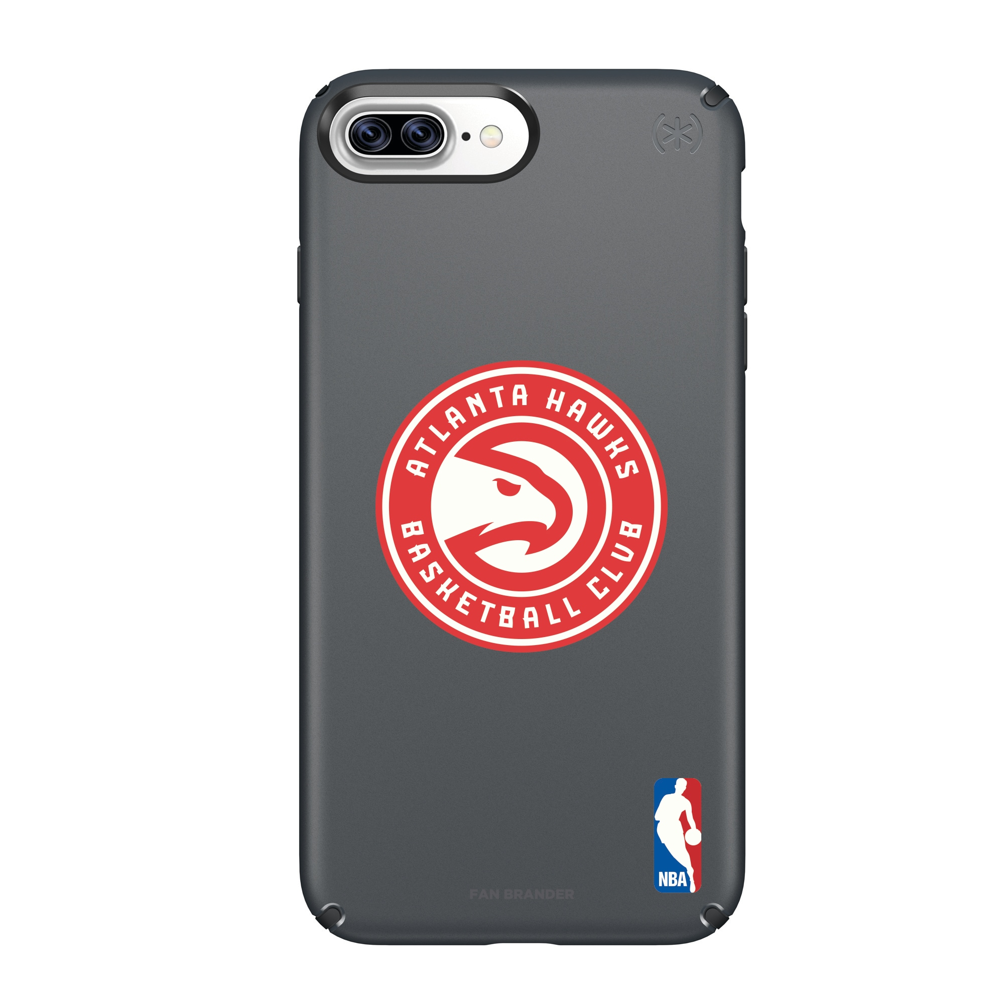 Atlanta Hawks Speck Primary Logo iPhone Case - Black