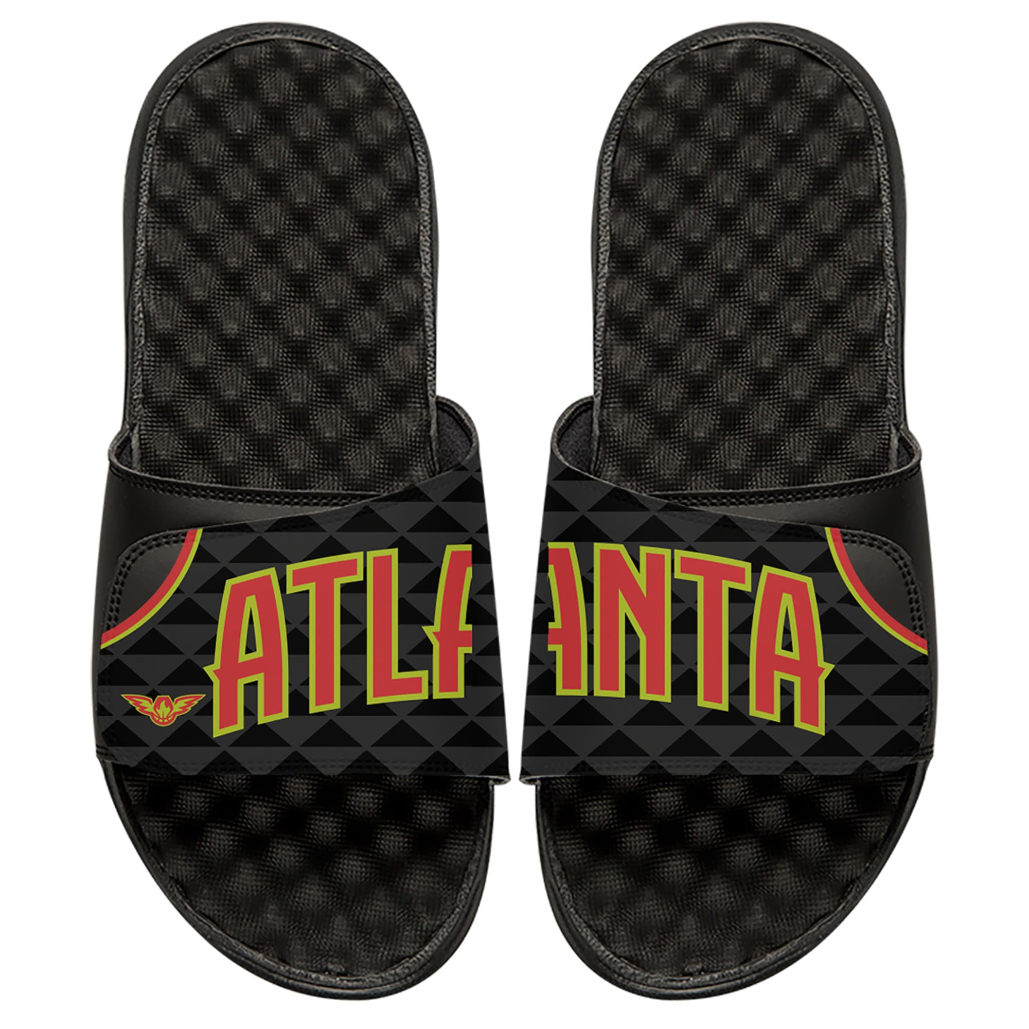 Atlanta Hawks ISlide Away Jersey Split Slide Sandals - Black