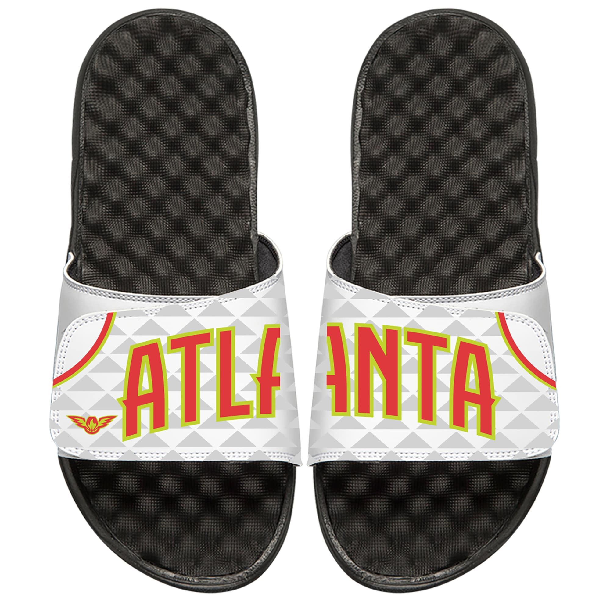 Atlanta Hawks ISlide Home Jersey Split Slide Sandals - White