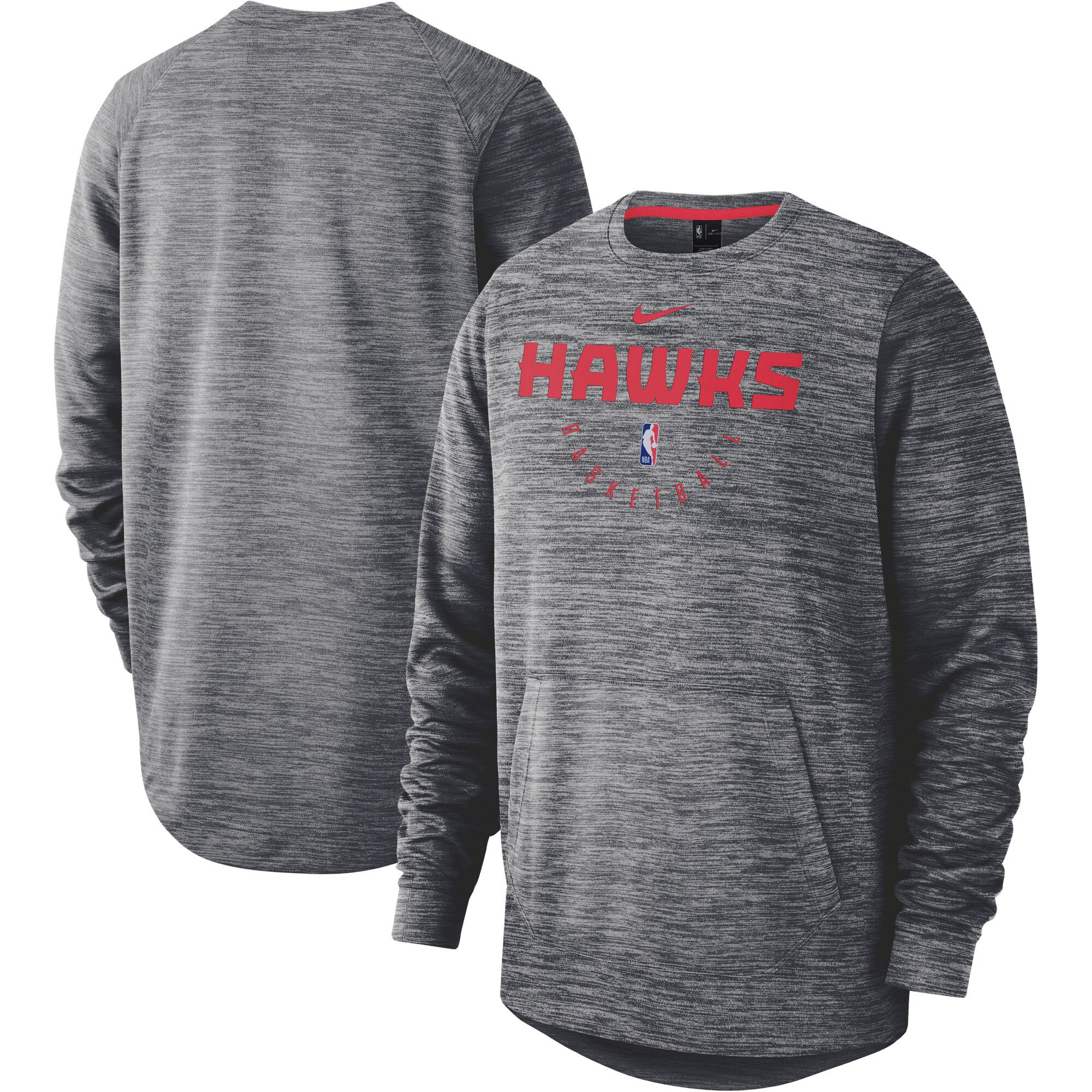 Atlanta Hawks Nike Spotlight Performance Pullover Sweatshirt - Heathered Gray