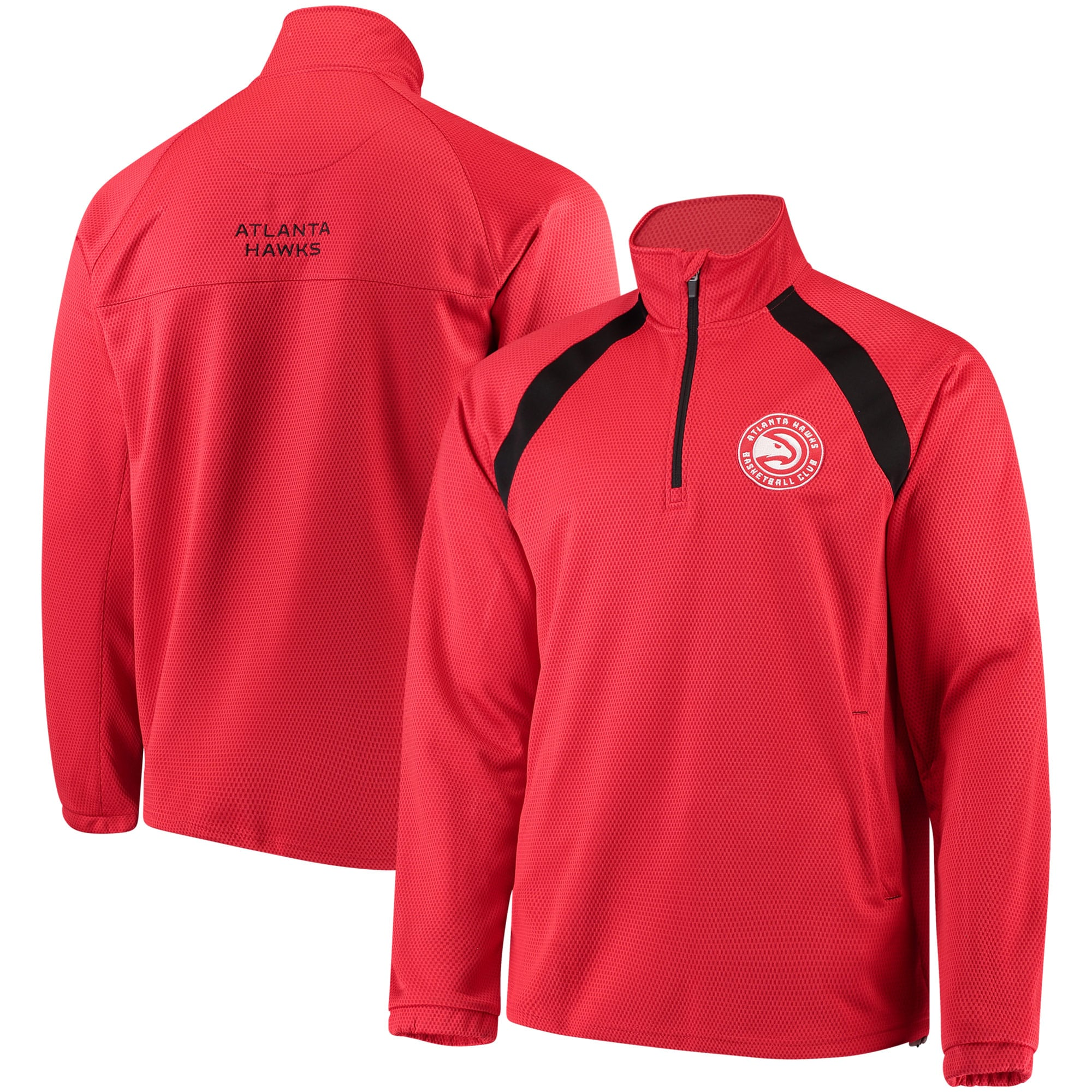 Atlanta Hawks G-III Sports by Carl Banks High Impact Quarter-Zip Pullover Jacket - Red