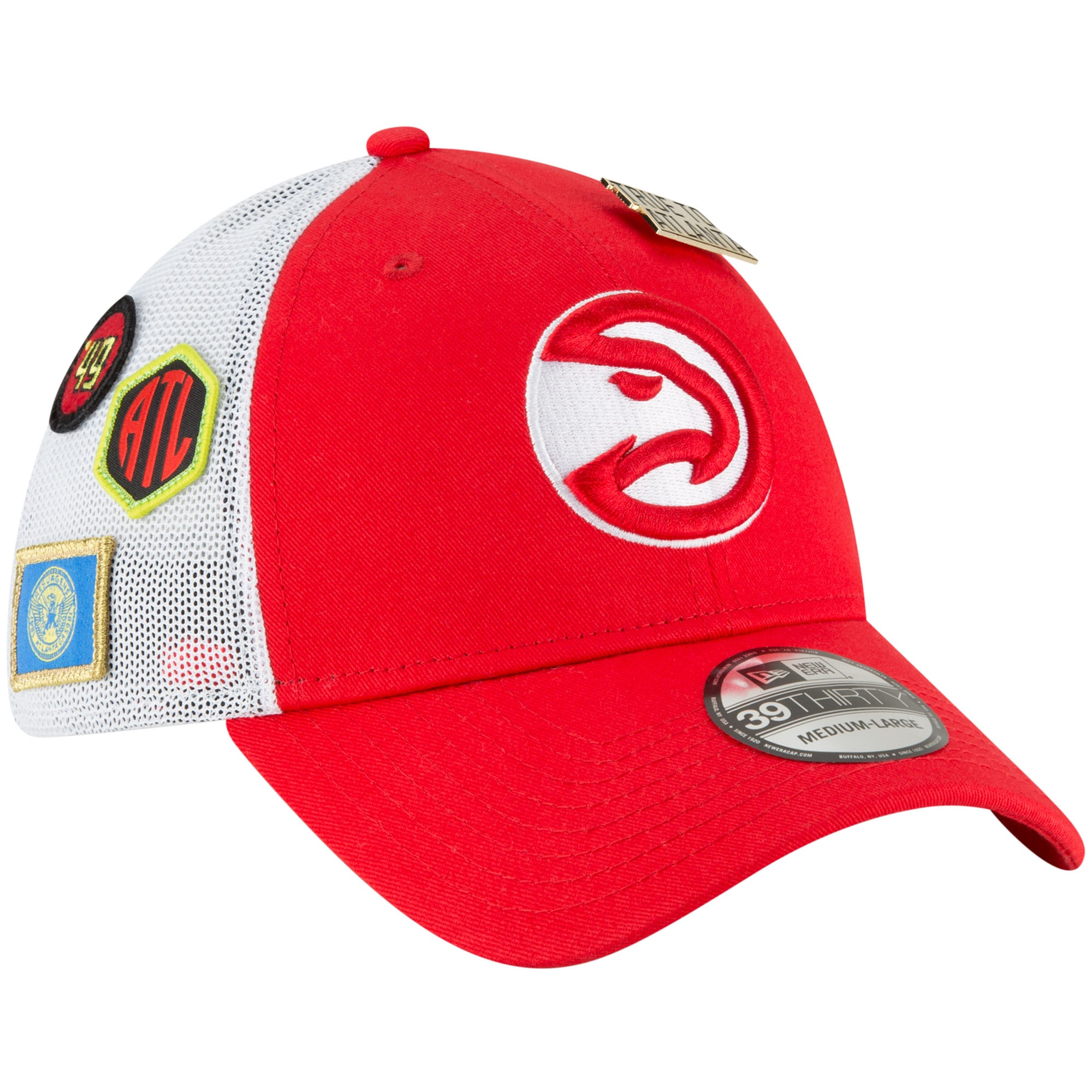 Atlanta Hawks New Era 2018 Draft 39THIRTY Fitted Hat - Red